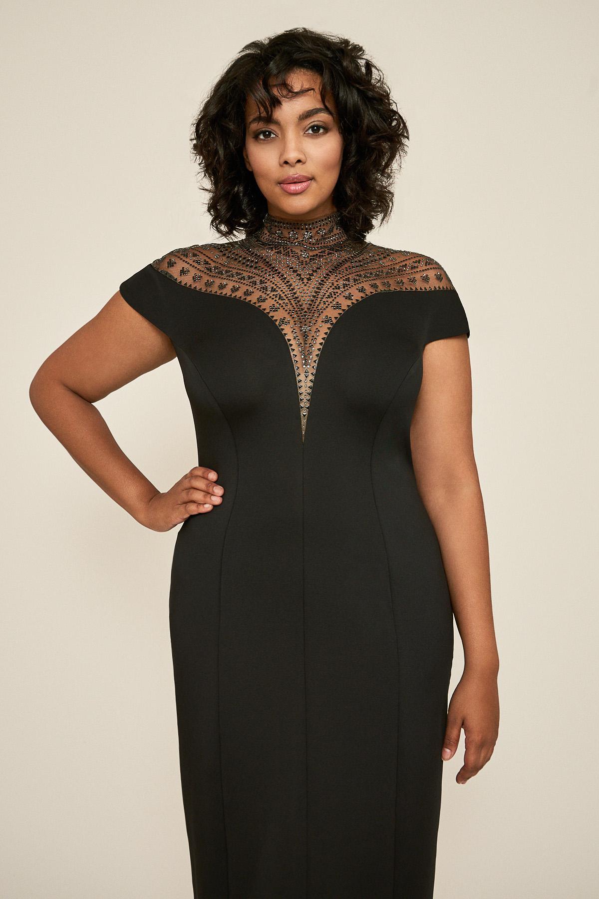 8ef13b8ce6d Tadashi Shoji - Black Asher Neoprene Dress - Plus Size - Lyst. View  fullscreen