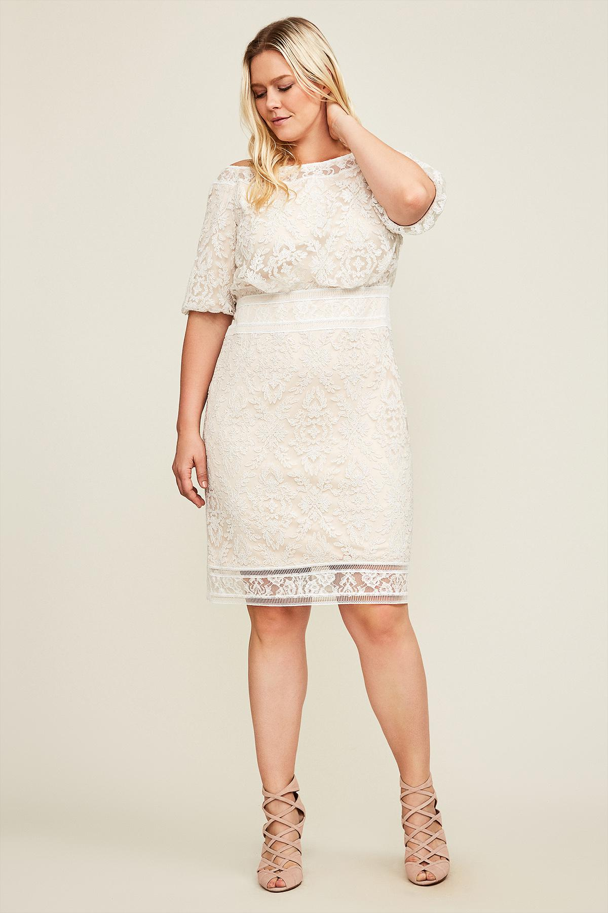 802251287be Tadashi Shoji Bianca Dress - Plus Size in Natural - Lyst