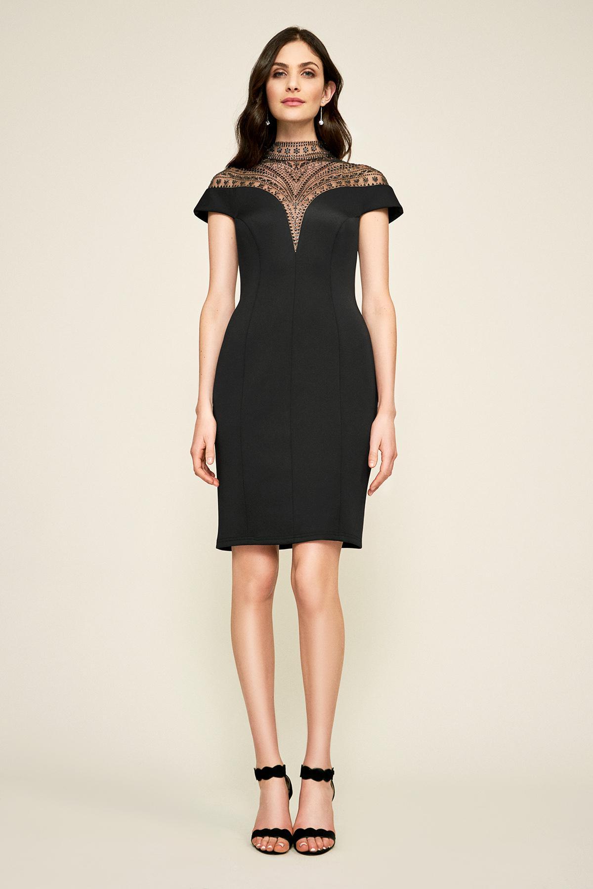 3c9eba2a324 Lyst - Tadashi Shoji Asher Neoprene Dress in Black - Save 40%