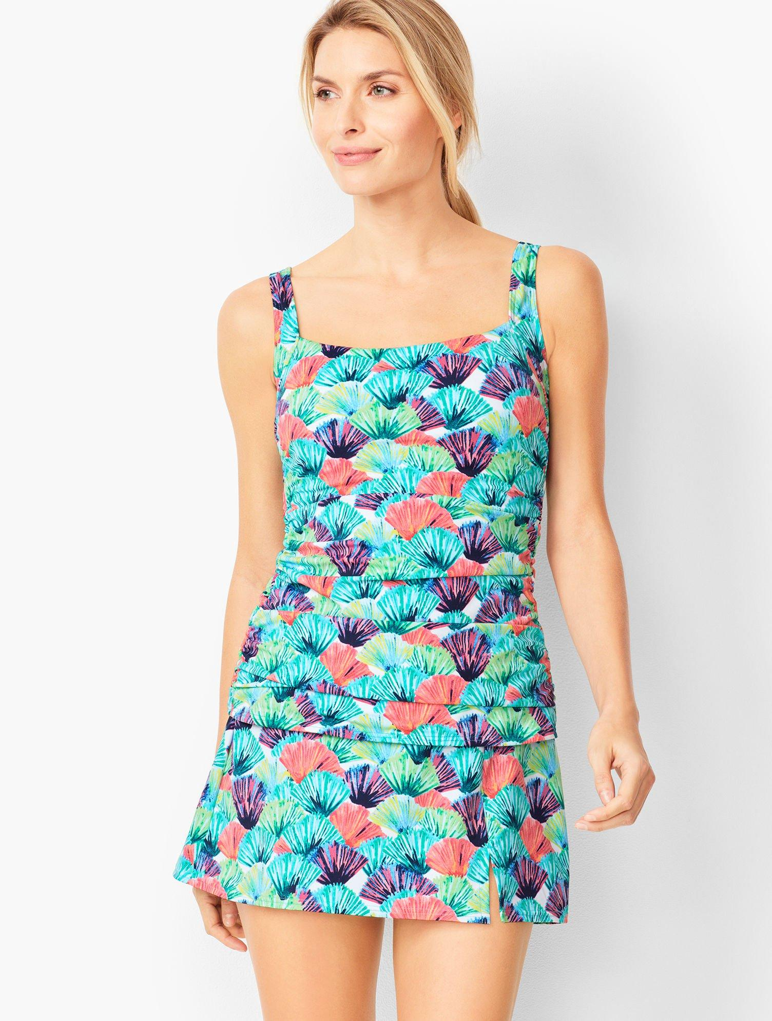 11abaf4768f1c Lyst - Talbots Miraclesuit(r) Cabana Tankini Top -watercolor Palms ...