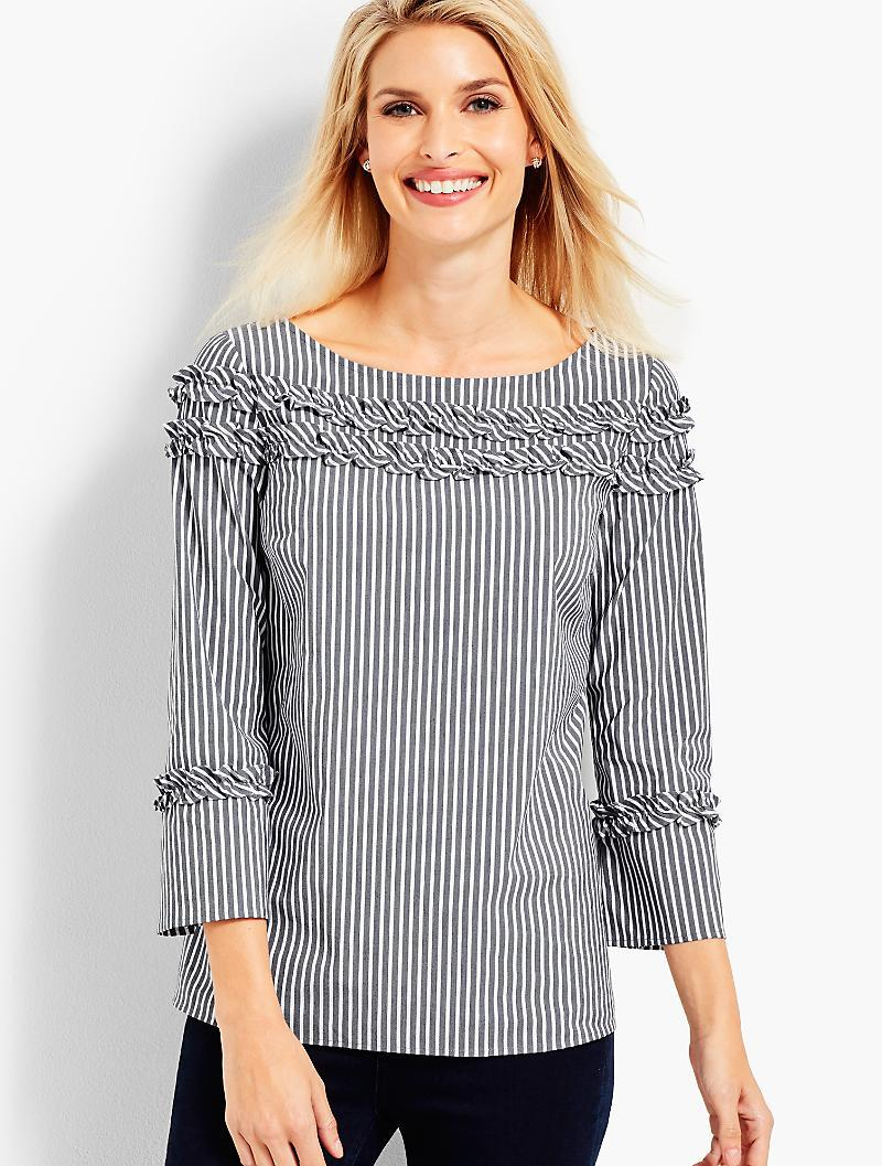 STRIPED SHIRRED TOP DKNY 100% Authentic Sale Online Free Shipping Popular zp0iommM