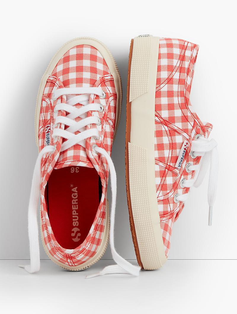 Lyst Talbots Superga 174 Sneakers Gingham In Red