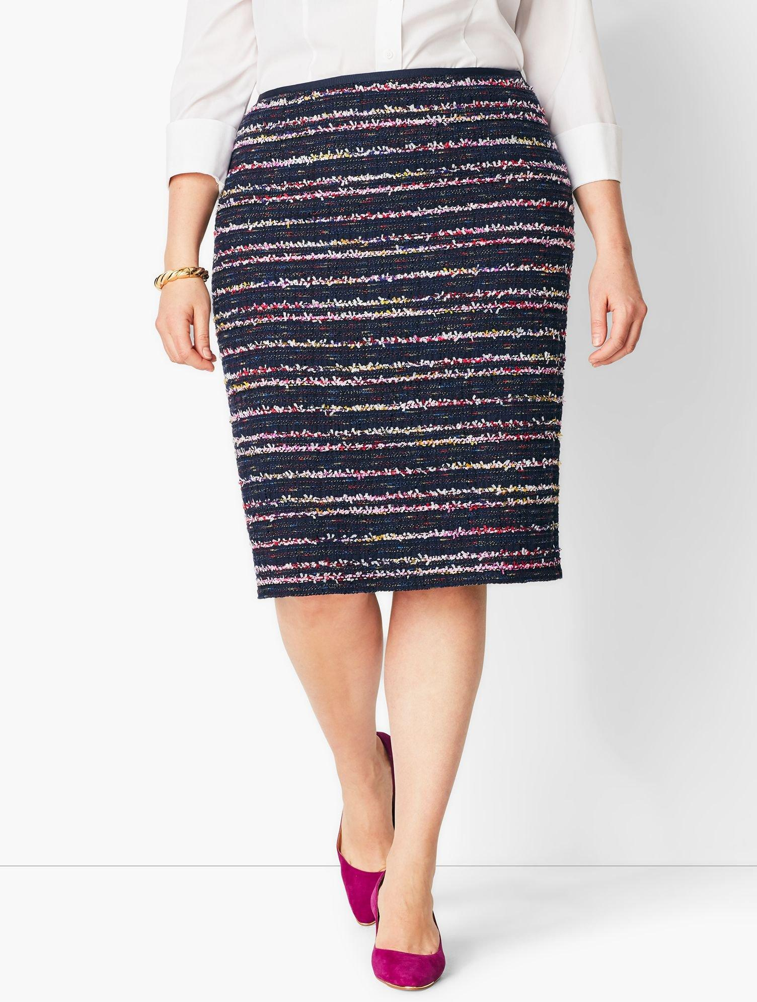 e020ff767b Lyst - Talbots Stripe Tweed Pencil Skirt in Blue - Save 73%