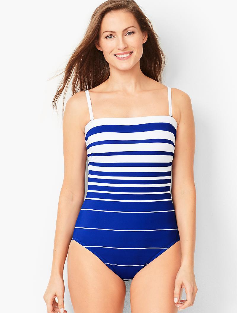 2cefb39fa7c38 Lyst - Talbots Miraclesuit® Avanti Stripe One-piece Swimsuit in Blue