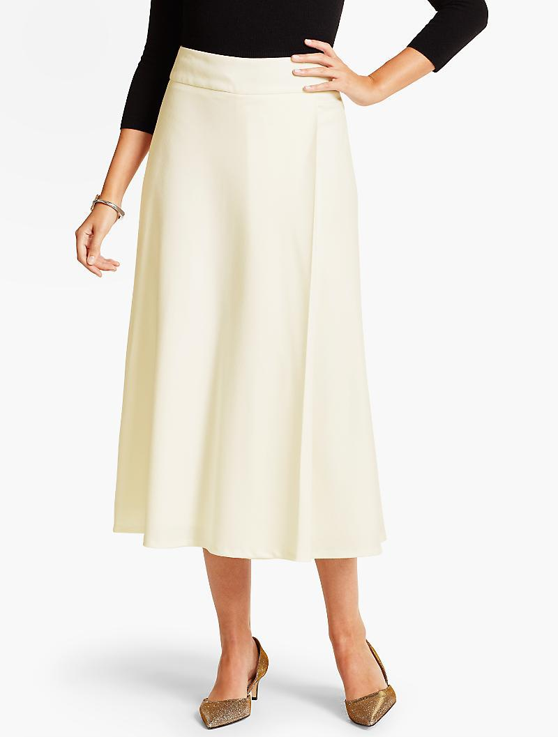 520be9f465e Lyst - Talbots Italian Flannel Riding Skirt in White