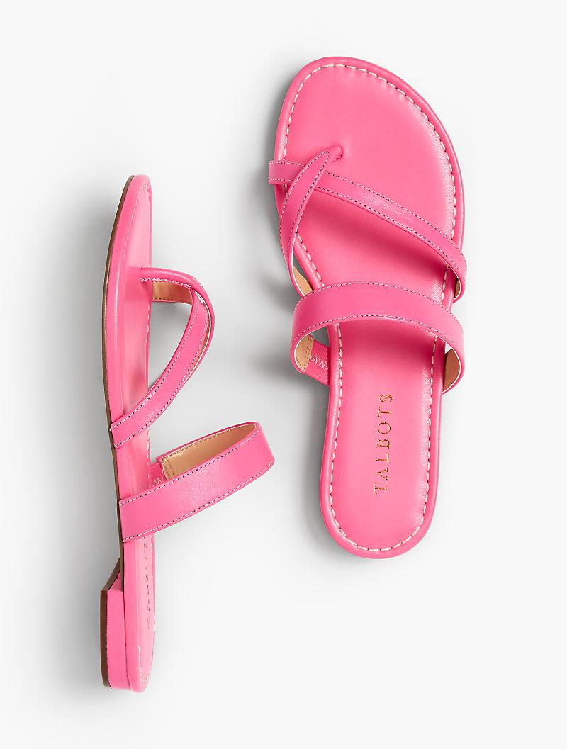 f921eaf0e Lyst - Talbots Gia Toe-ring Sandals - Soft Nappa in Pink