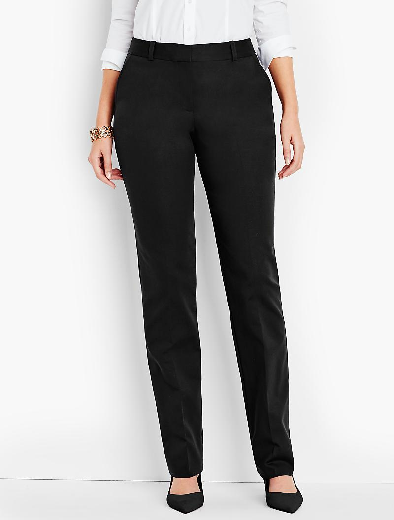 Talbots Freeport Pant-curvy Fit/double-weave in Black