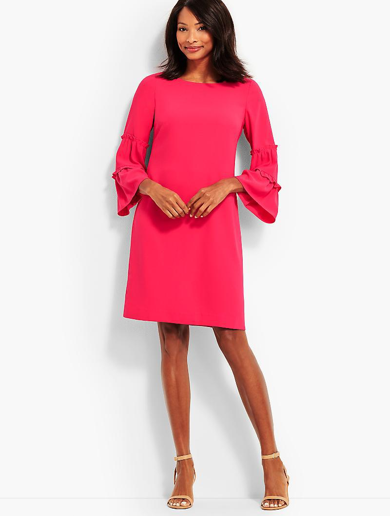 0013ab43370e Lyst - Talbots Crepe Shift Dress in Pink