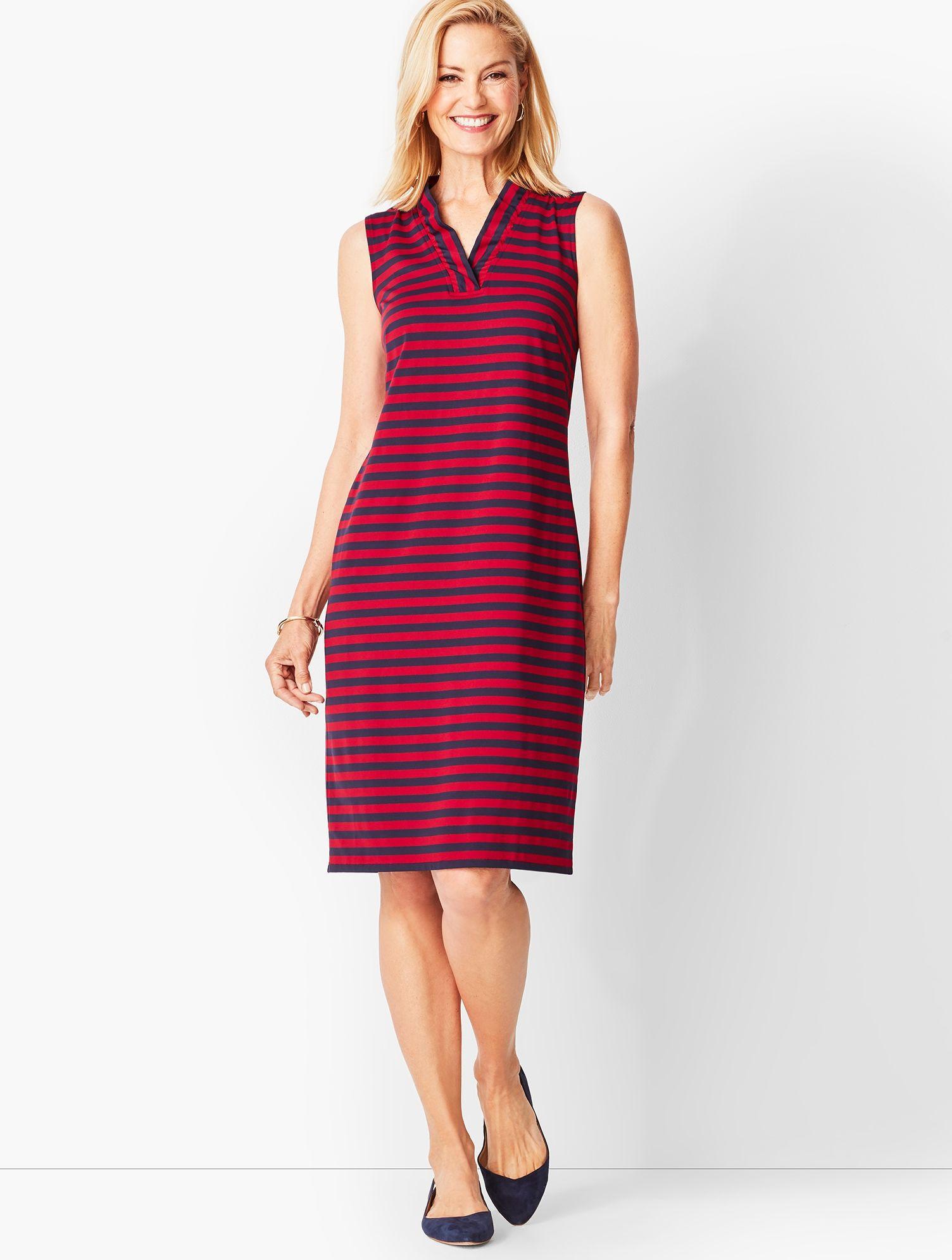 a8067b2a68 Lyst - Talbots Feminine Knit Jersey Dress in Red