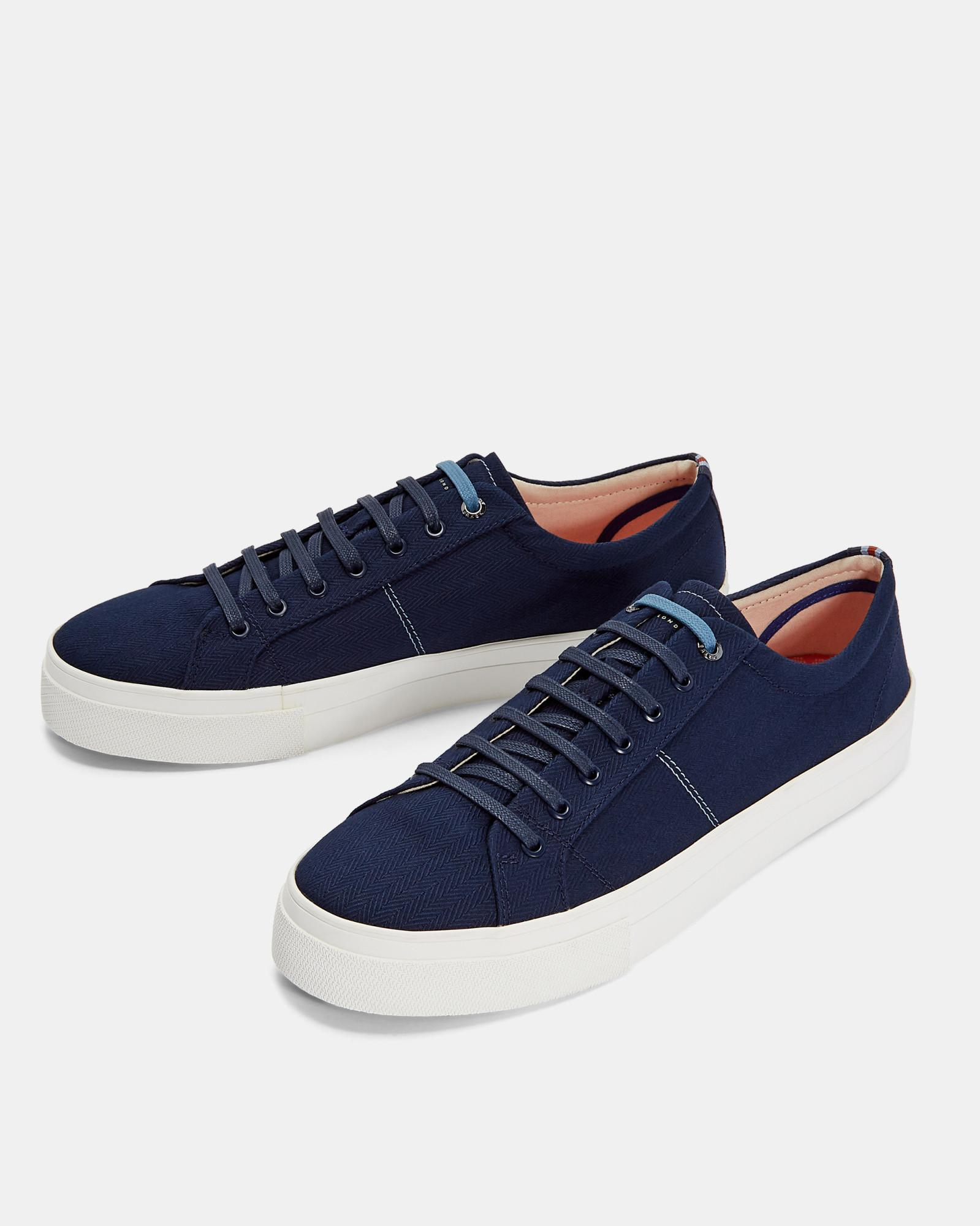 af50e32108a5 Ted Baker Classic Plimsoll Trainers in Blue for Men - Lyst