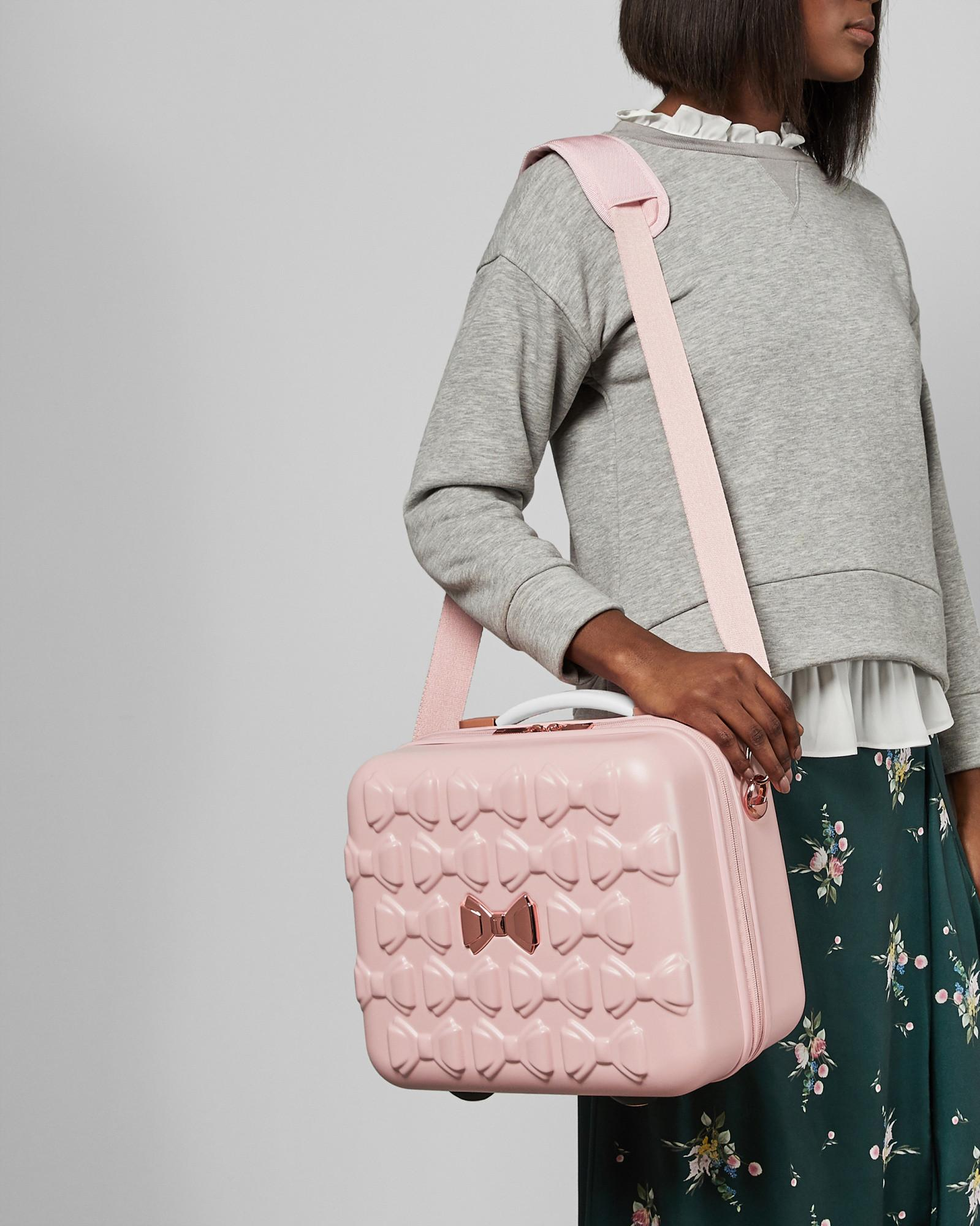 3a8bb5a6b0770 Lyst - Ted Baker Tbw0204 Bow Detail Vanity Case in Pink