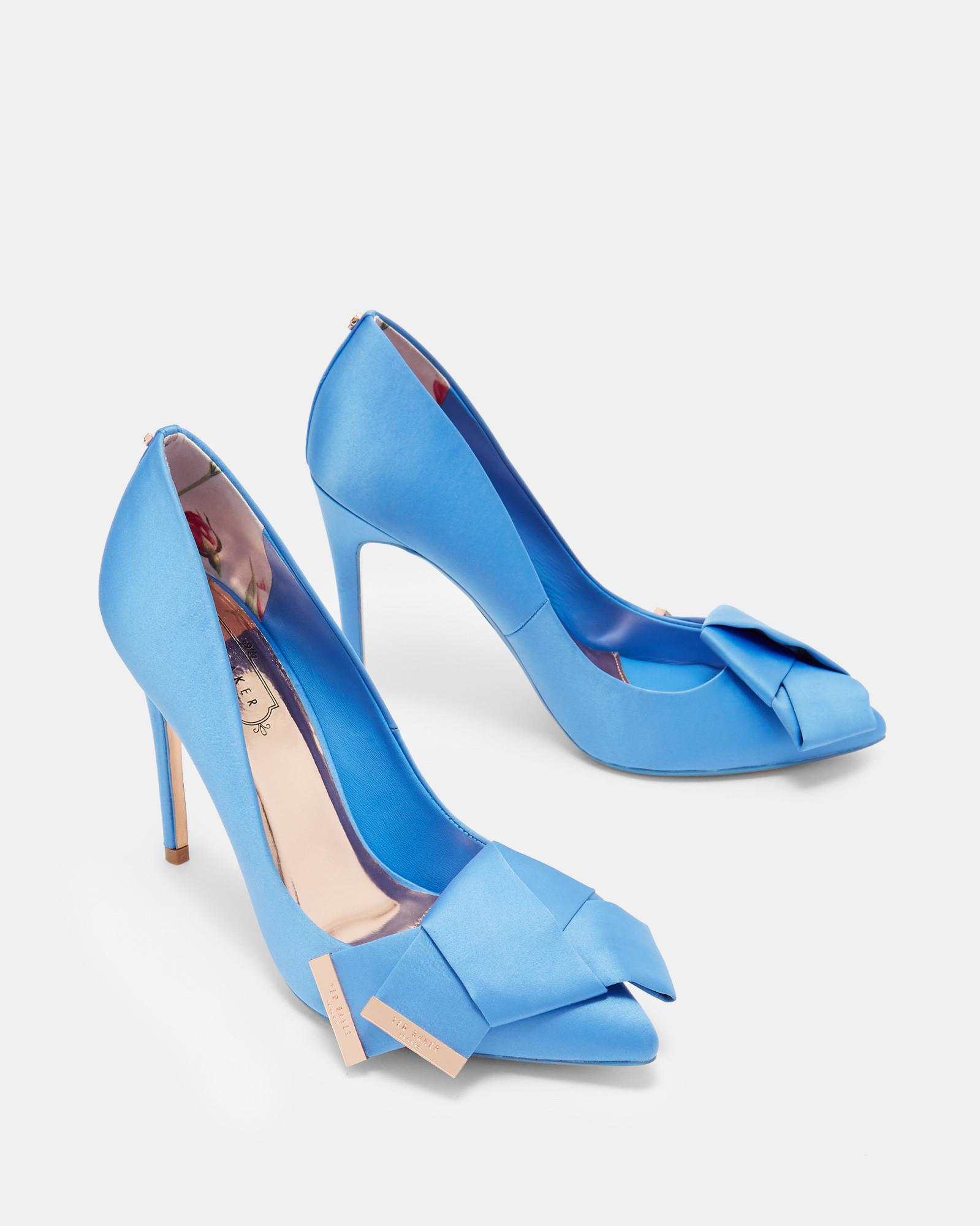113e1bad4 Lyst - Ted Baker Knotted Bow Satin Courts in Blue