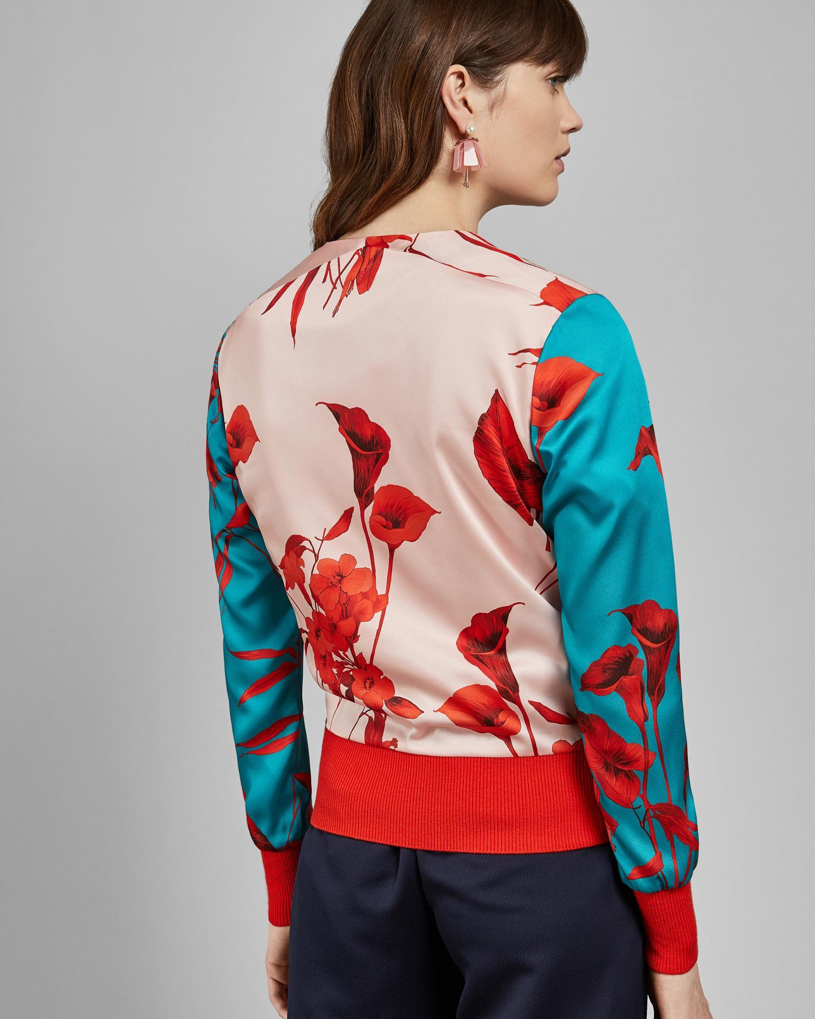 0e17b417d Ted Baker - Multicolor Cortnee Fantasia-print Bomber Jacket - Lyst. View  fullscreen