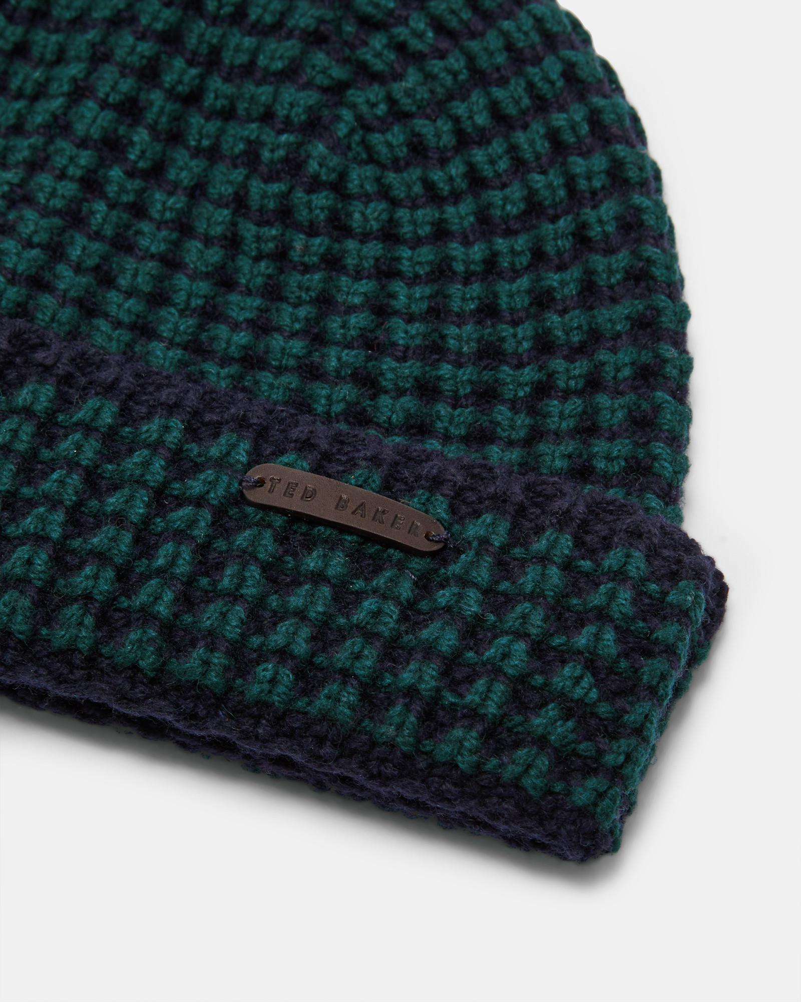 43e5f766d0c Ted Baker Wool And Cashmere-blend Beanie Hat in Blue for Men - Lyst
