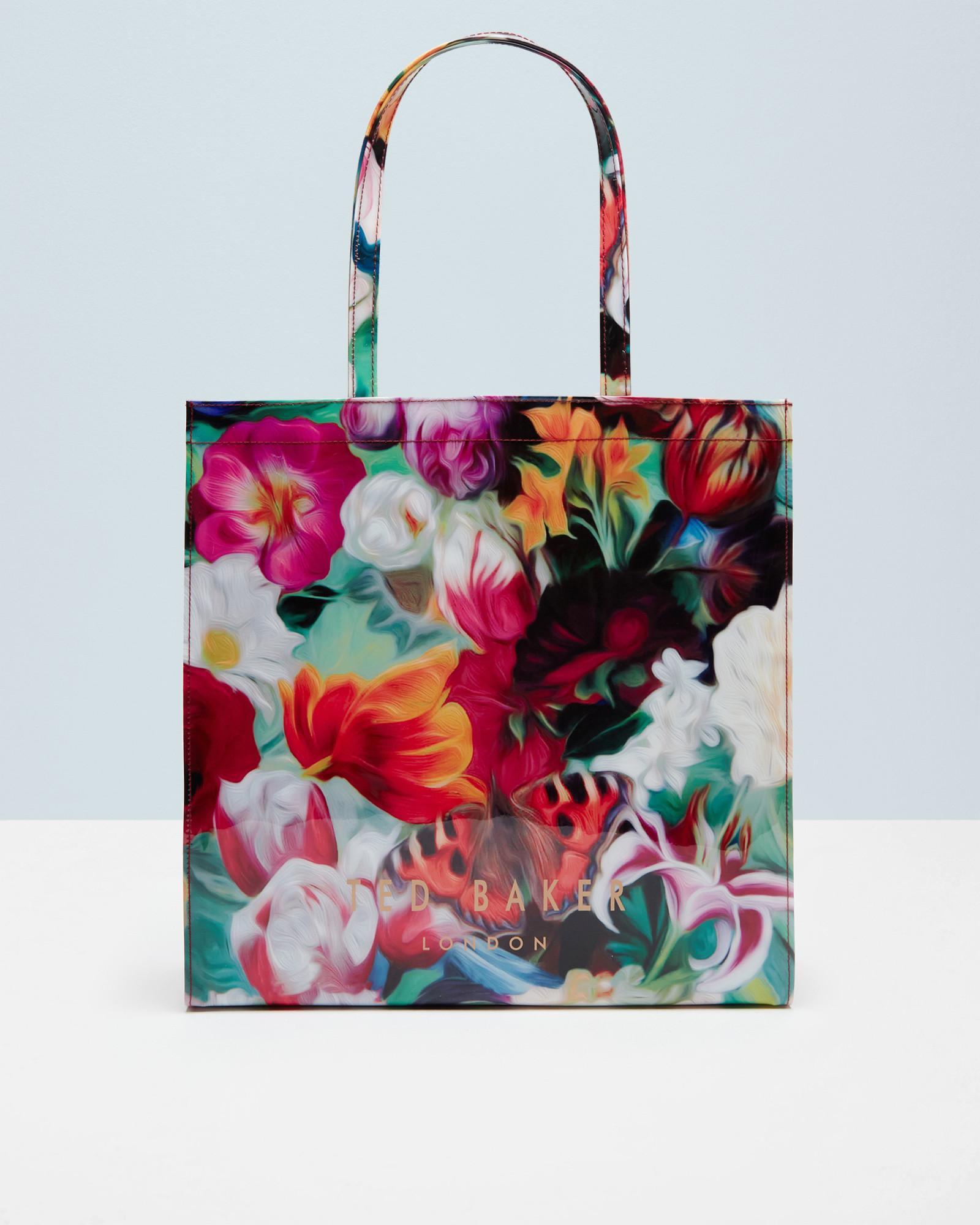 Ted Baker Floral Swirl Large Shopper Bag In Purple Lyst