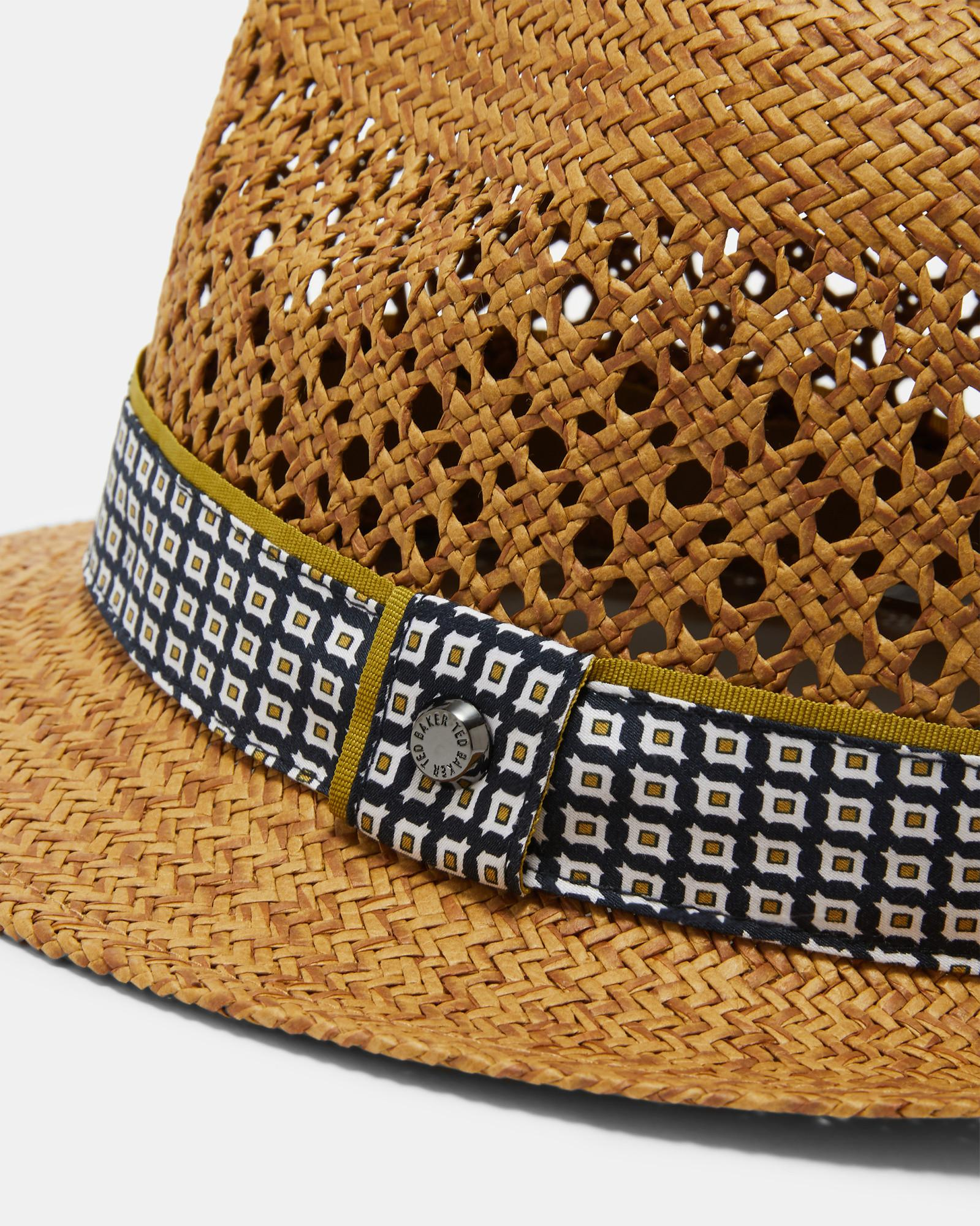 f74f89f1ca4c8 Ted Baker Straw Trilby Hat in Natural for Men - Save 38% - Lyst