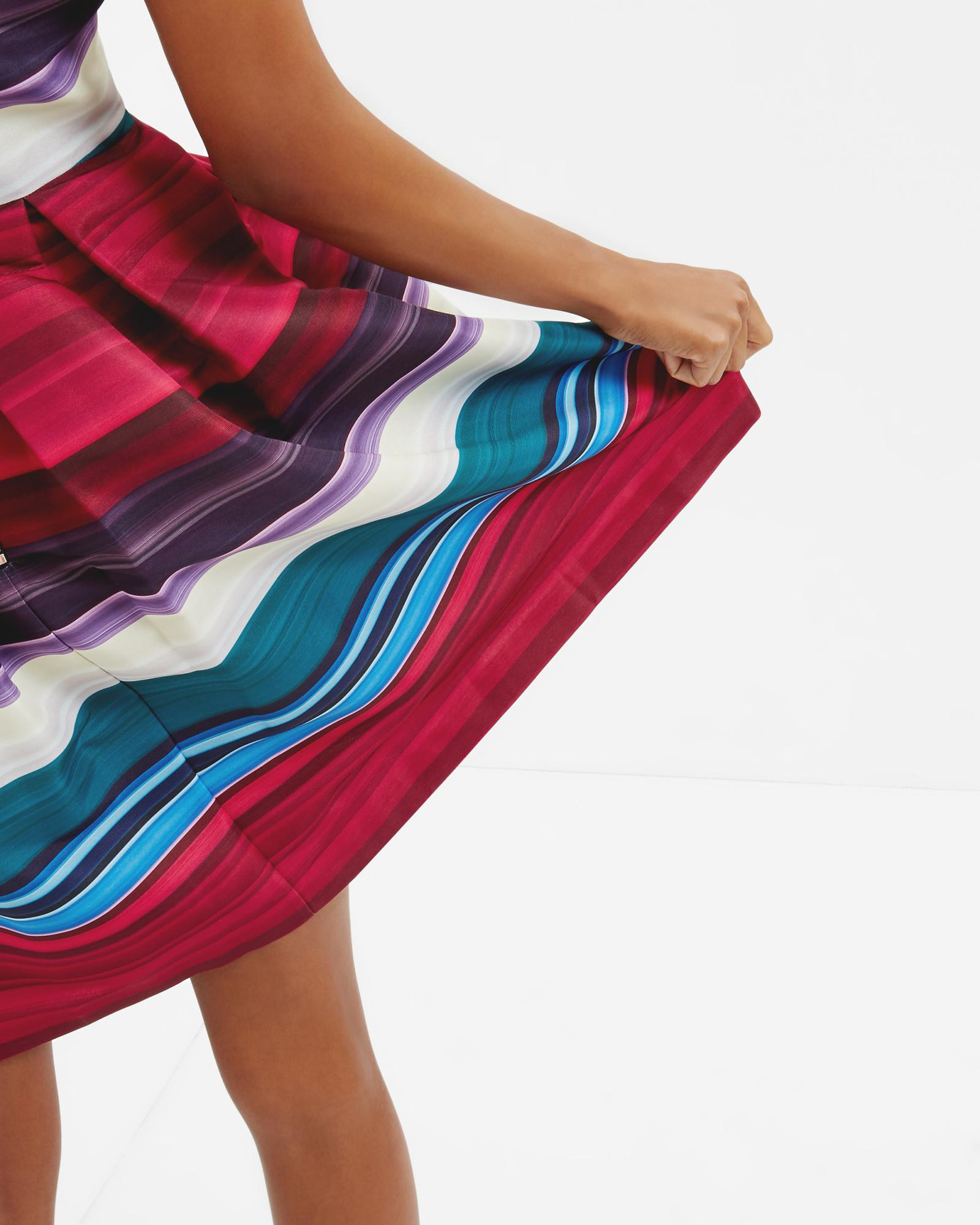 Lyst Ted Baker Striped Pleated Dress