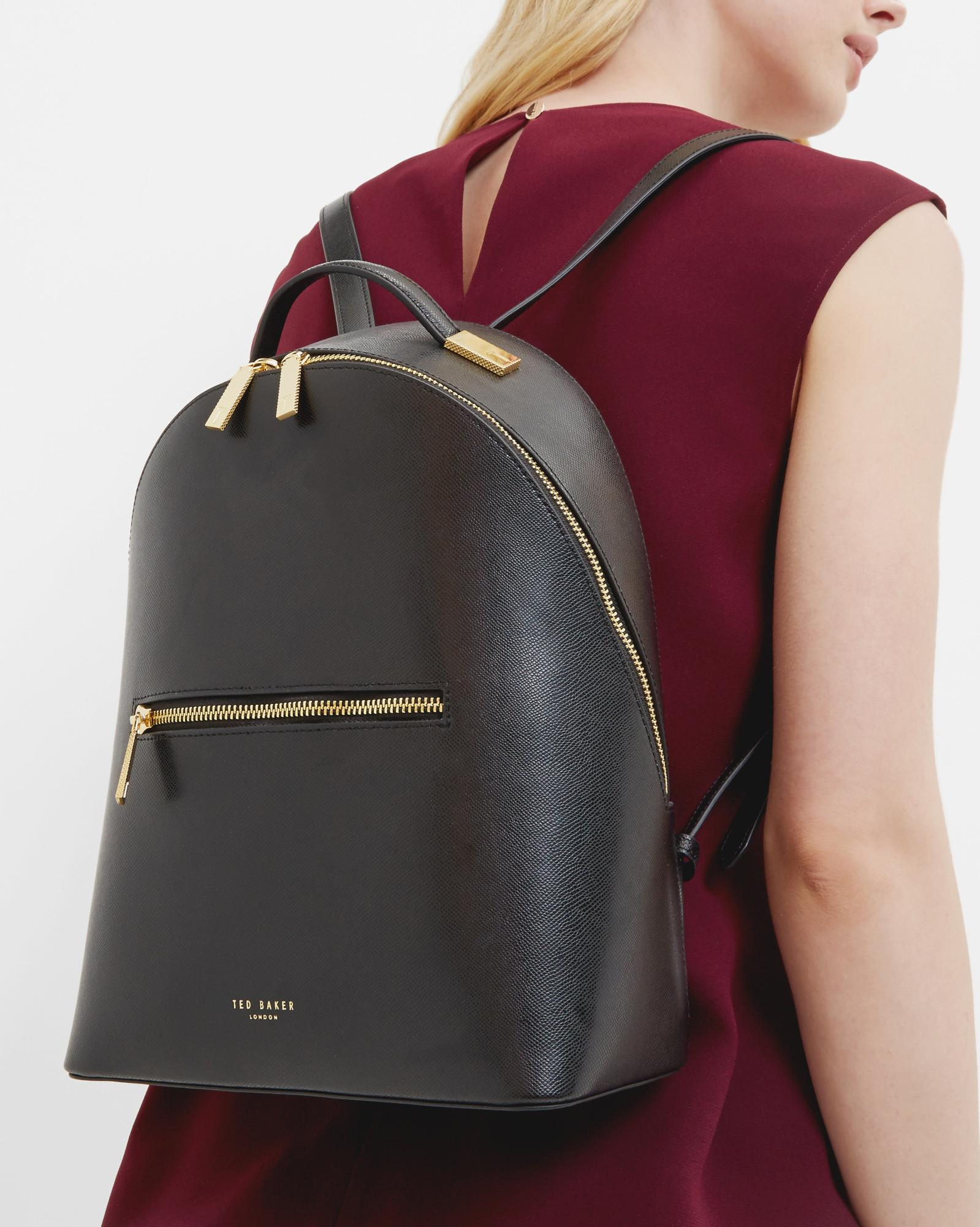 72e1f3280b0b8 ... Lyst - Ted Baker Cross Grain Leather Backpack in Black new arrive 02a22  c8866 ...
