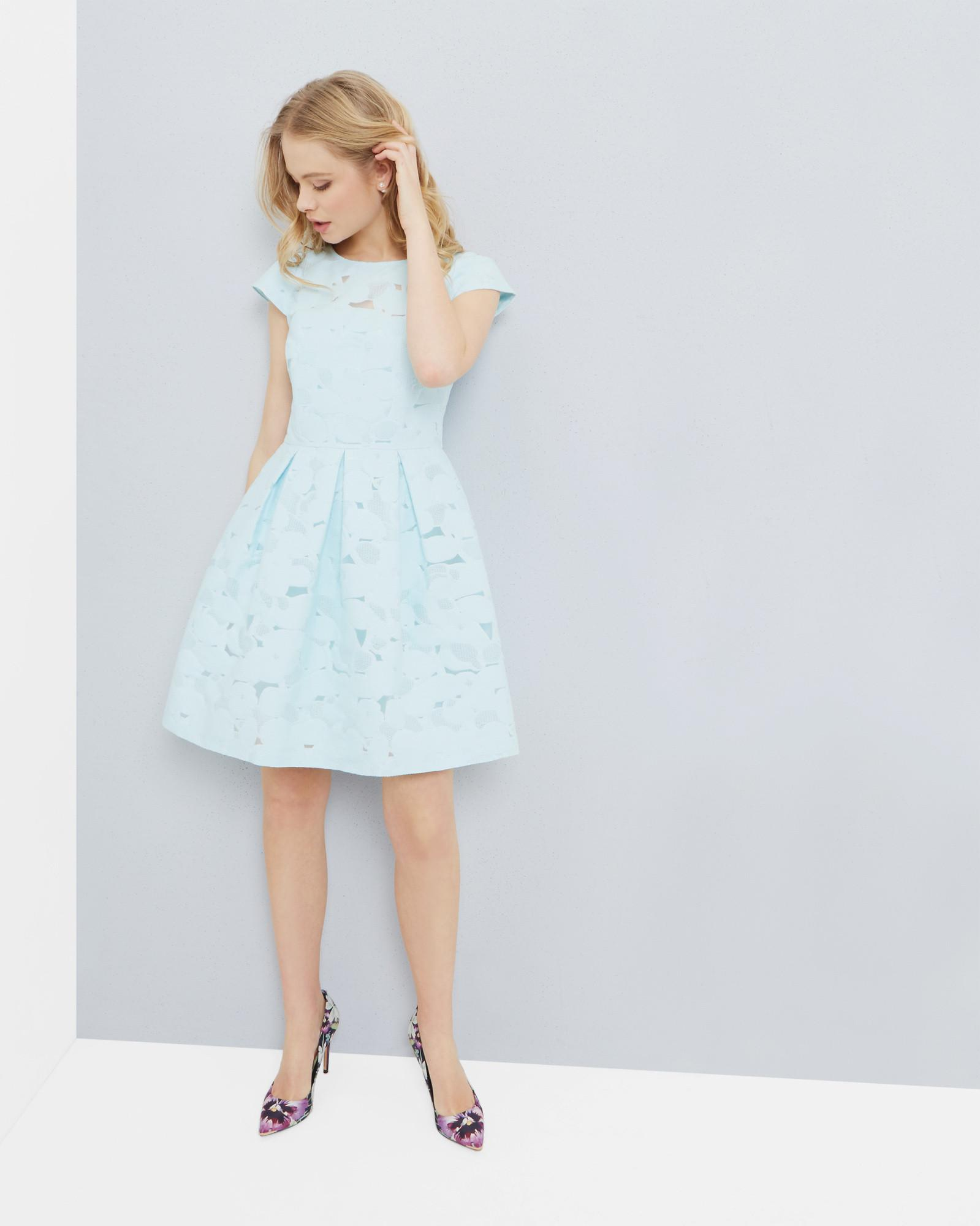 dc565d114519ca Ted Baker Burn Out Floral Dress in Blue - Lyst
