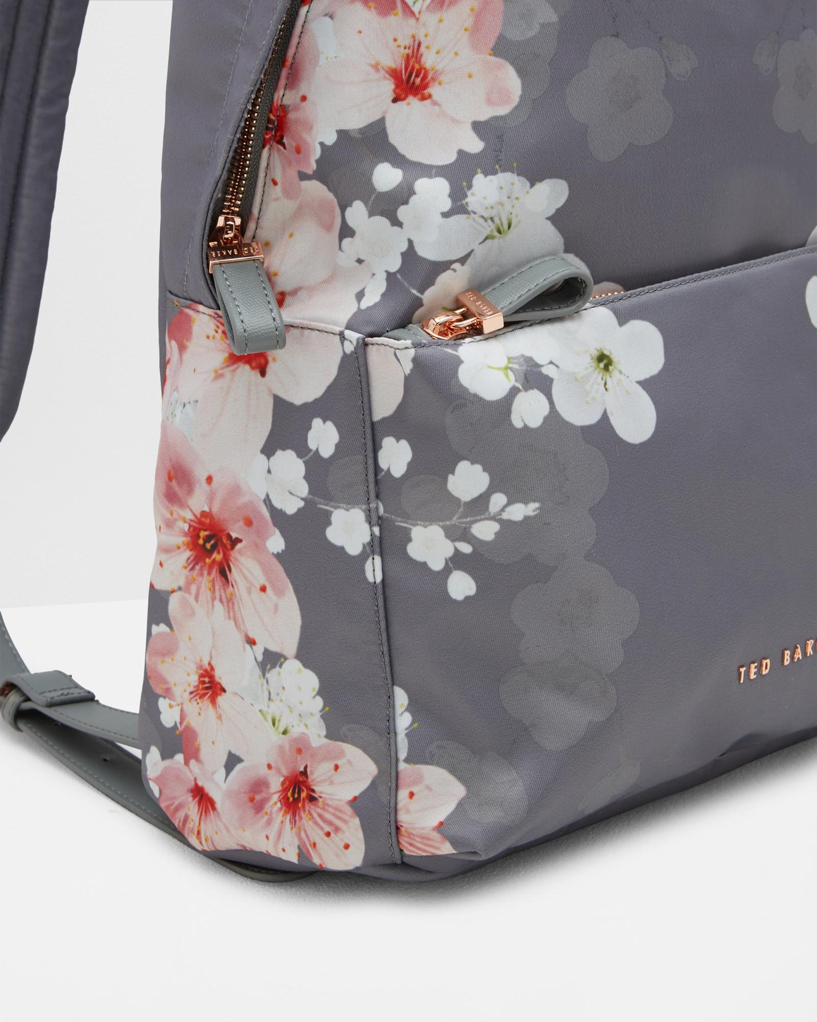 09d3d43d0 Lyst - Ted Baker Oriental Blossom Backpack in Gray