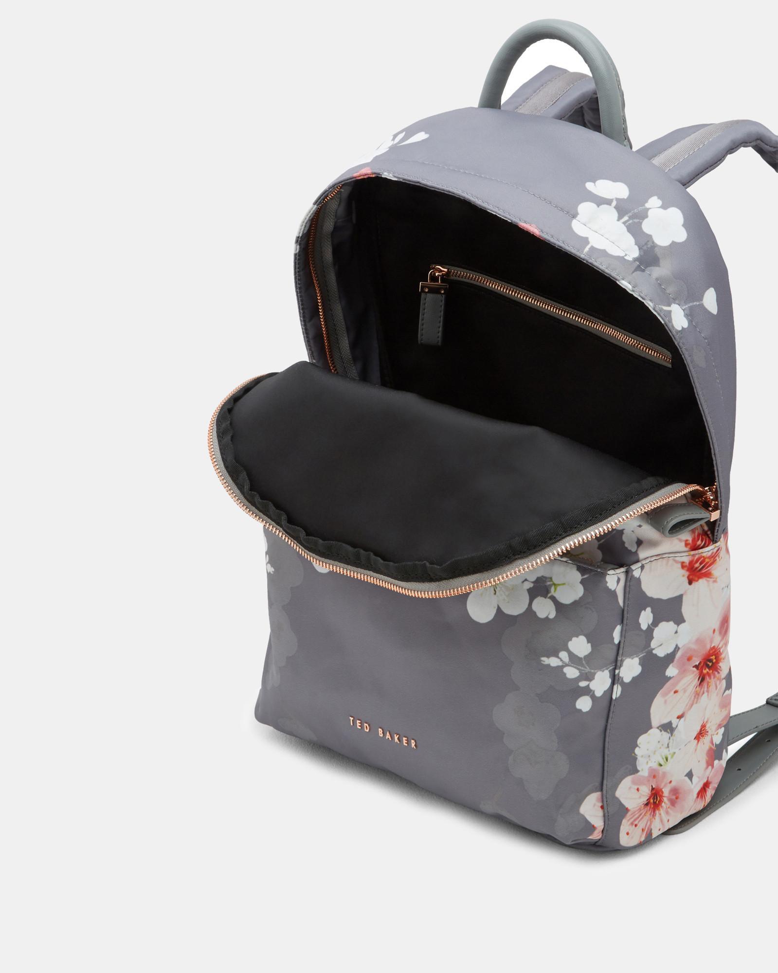 774650af1078 Ted Baker Oriental Blossom Backpack in Gray - Lyst