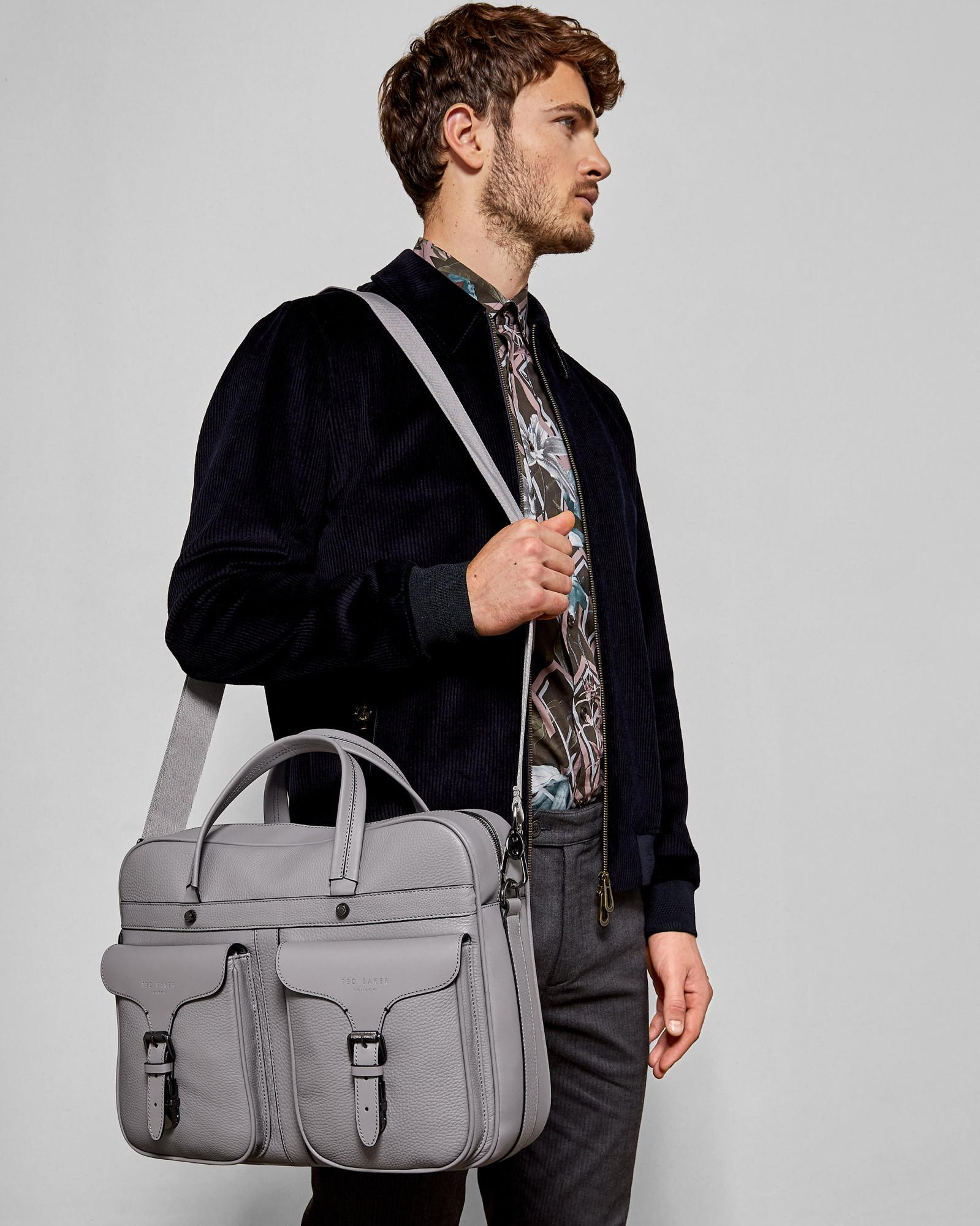 0fd0f91a23e438 Lyst - Ted Baker Fashion Leather Document Bag in Gray for Men