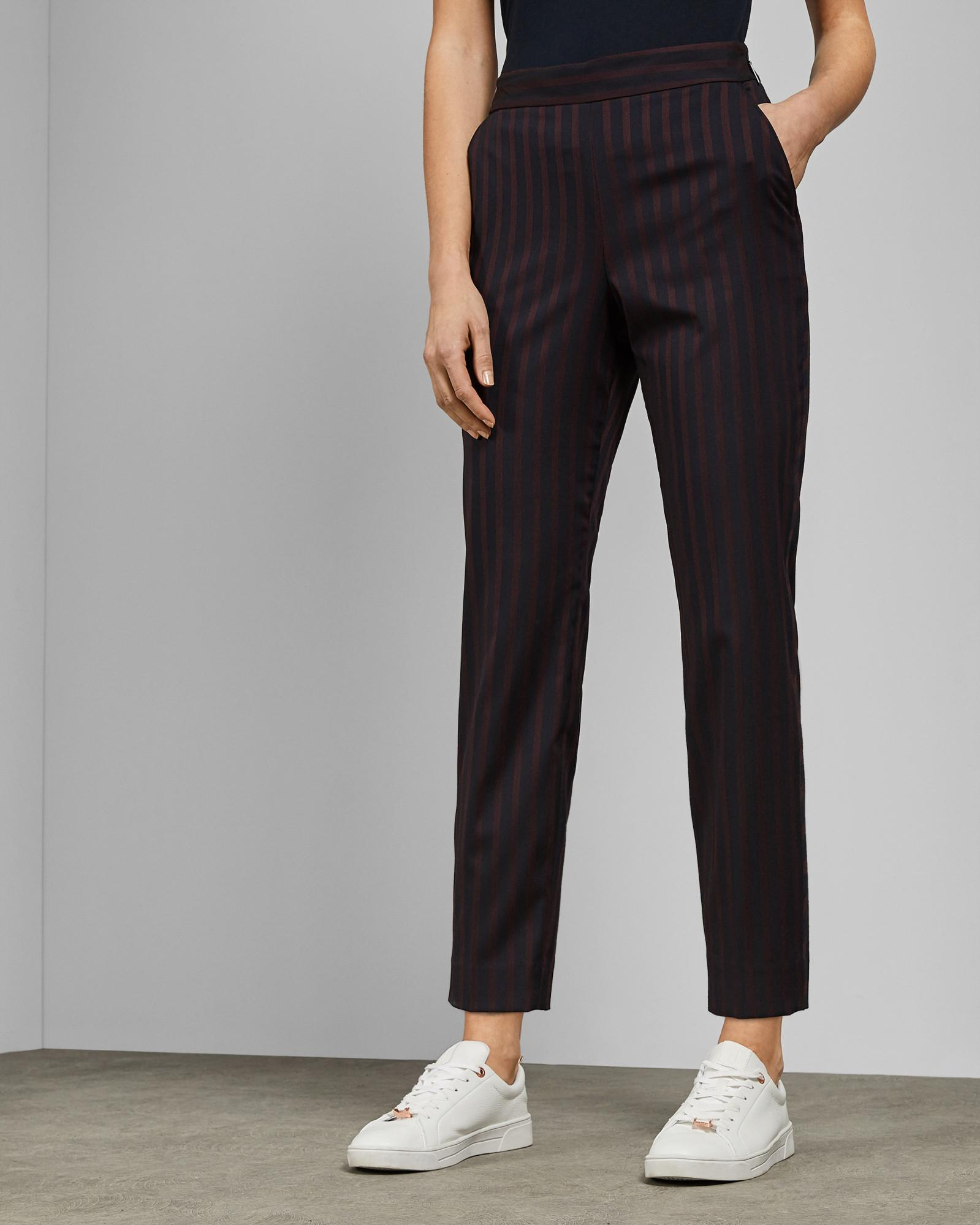 71a80a70d767 Ted Baker Tapered Cropped Trousers in Blue - Lyst