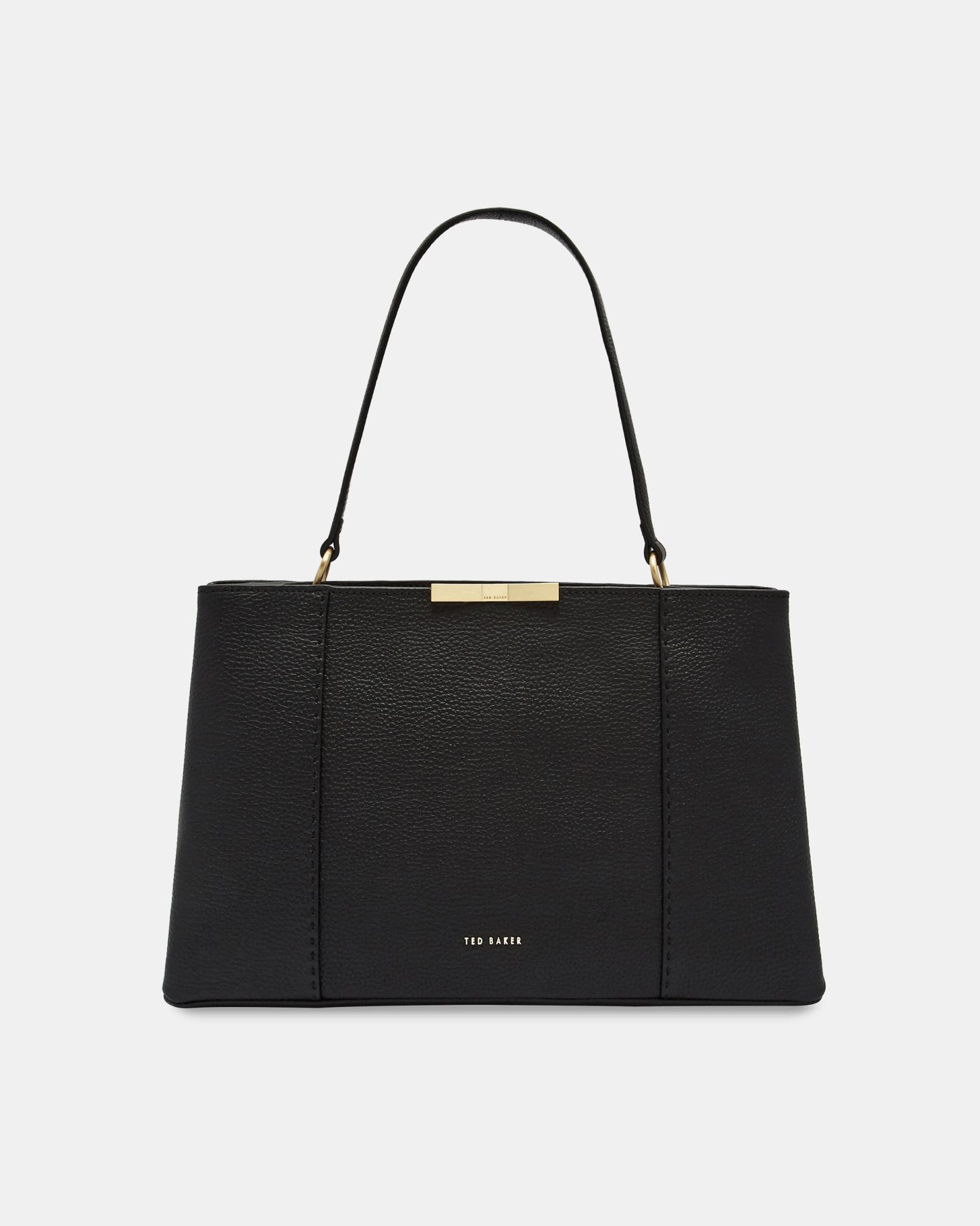 cedd2b80951e3 Ted Baker - Black Faceted Bow Leather Tote Bag - Lyst. View fullscreen