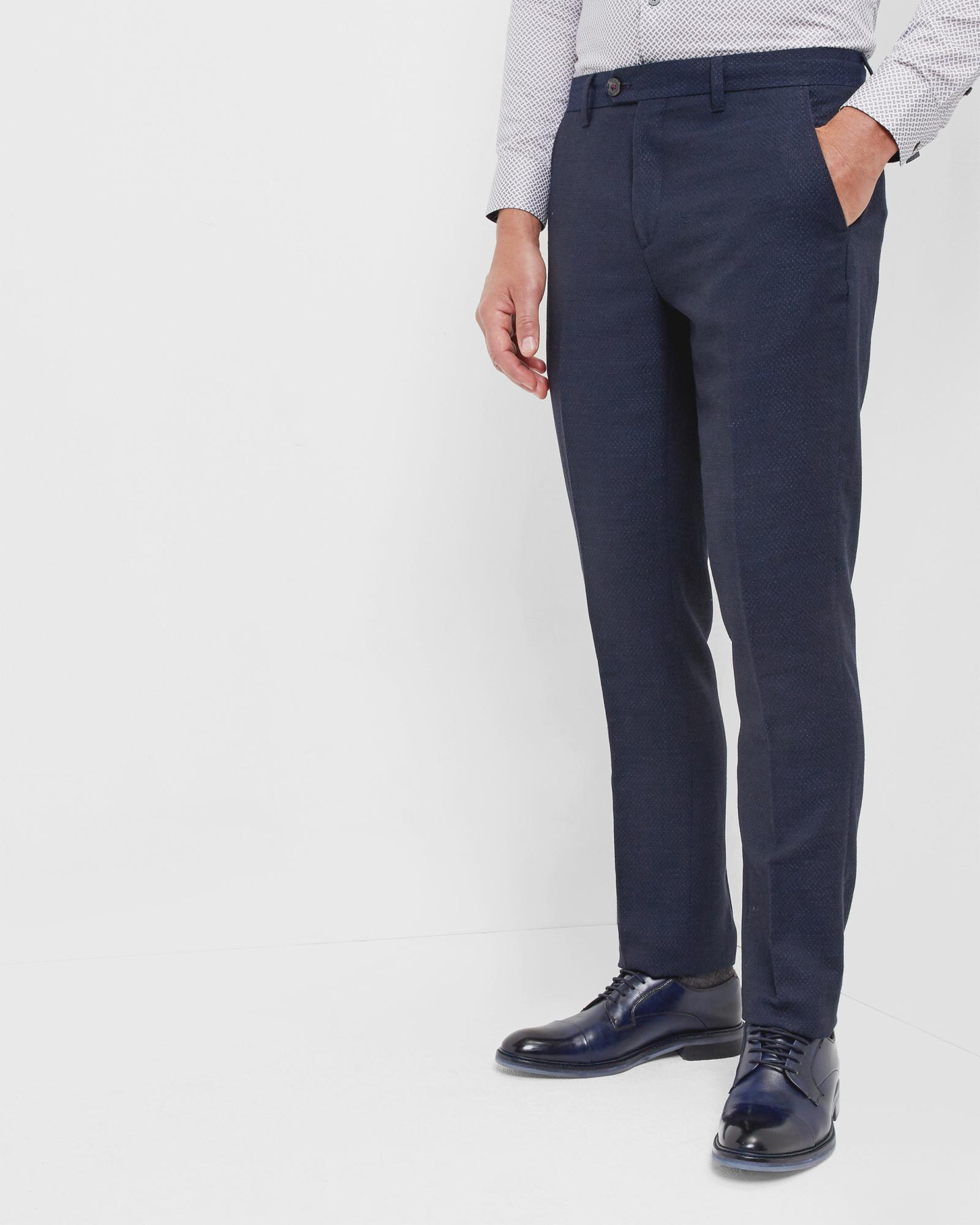 ddcf37ac5 Lyst - Ted Baker Linen Trousers in Blue for Men