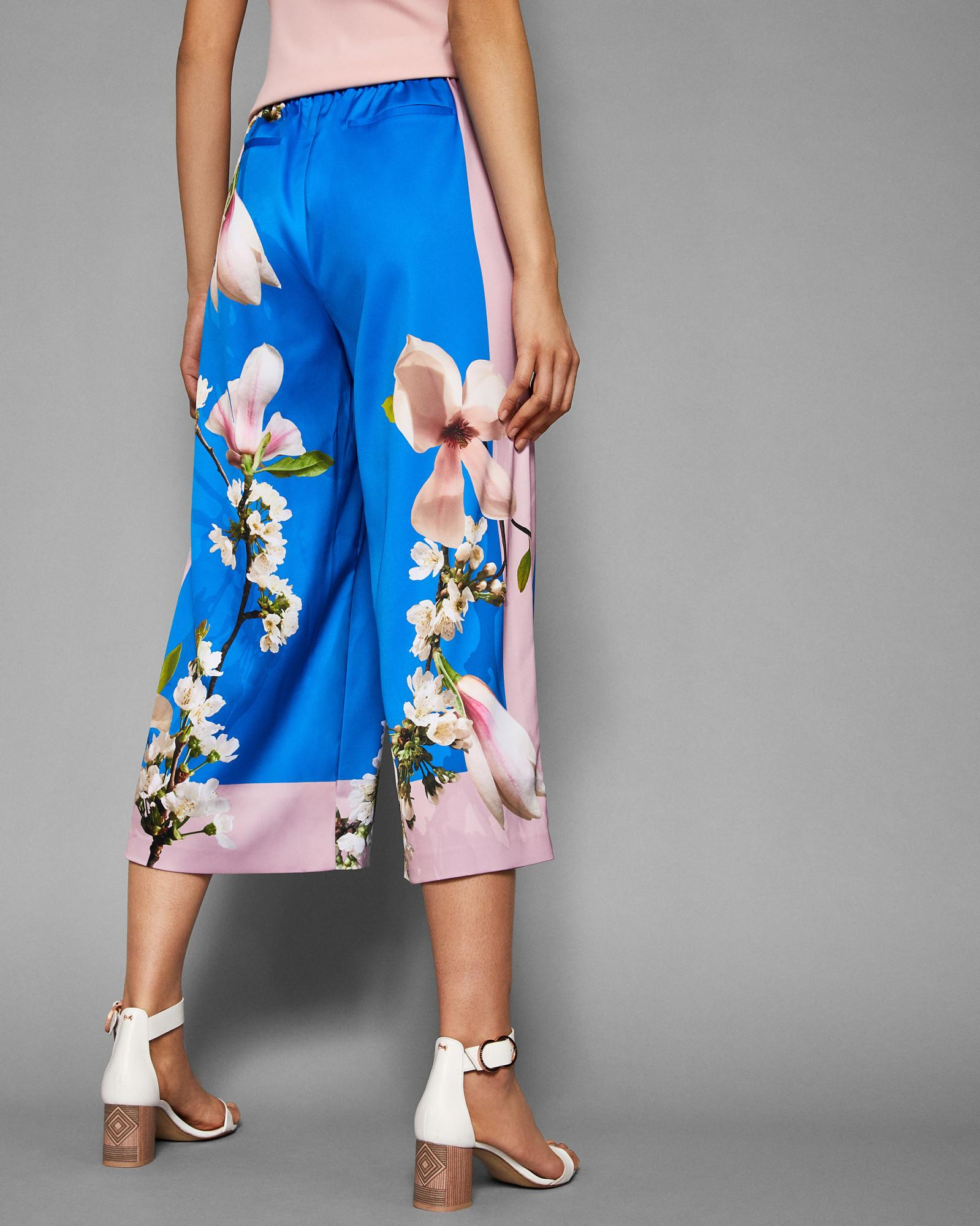 4d025214c9 Lyst - Ted Baker Harmony Wide Leg Culottes in Blue