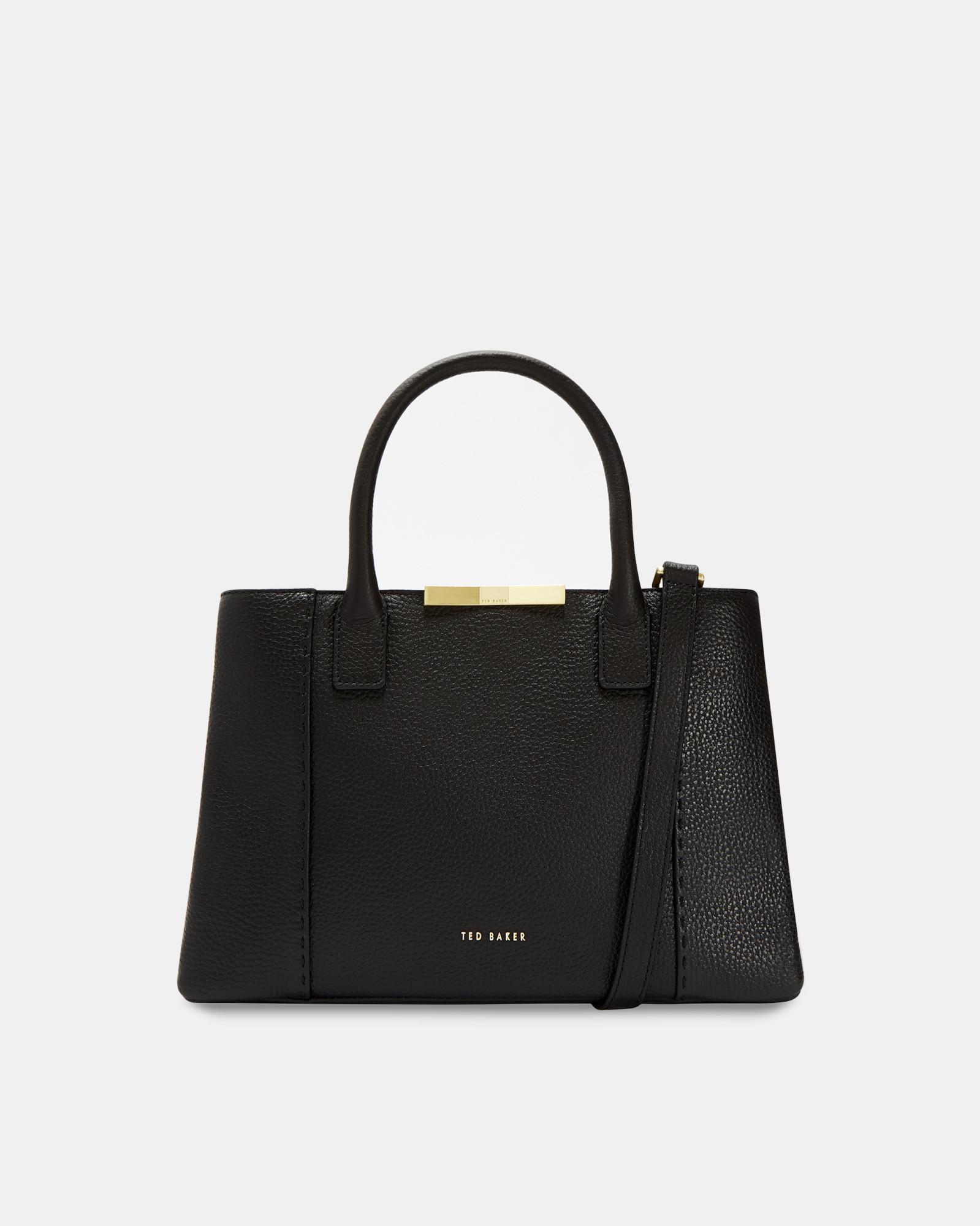 adb8cf028f3fab Ted Baker - Black Soft Leather Small Tote Bag - Lyst. View fullscreen