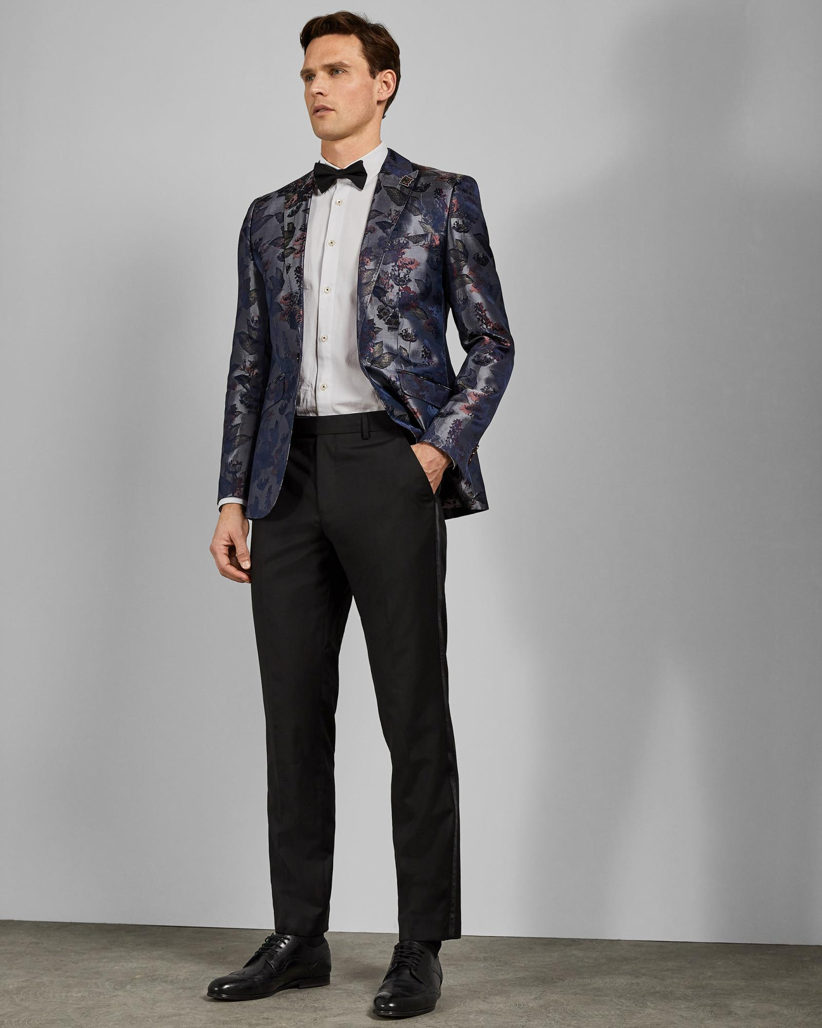 3364234c0ab002 Ted Baker Jacquard Jacket in Gray for Men - Lyst
