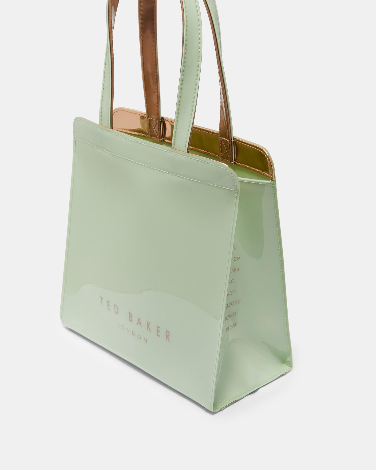 c863be5e6456e Lyst - Ted Baker Bow Detail Small Icon Bag in Green