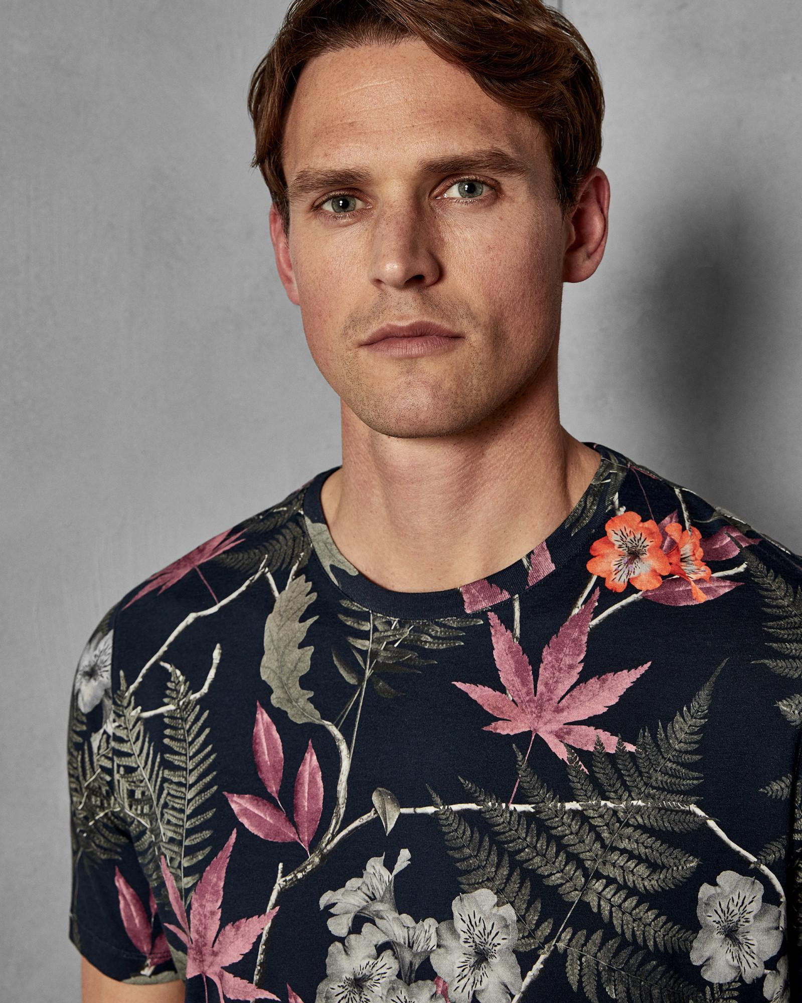 357f498424db Lyst - Ted Baker Buck Floral Tee in Blue for Men