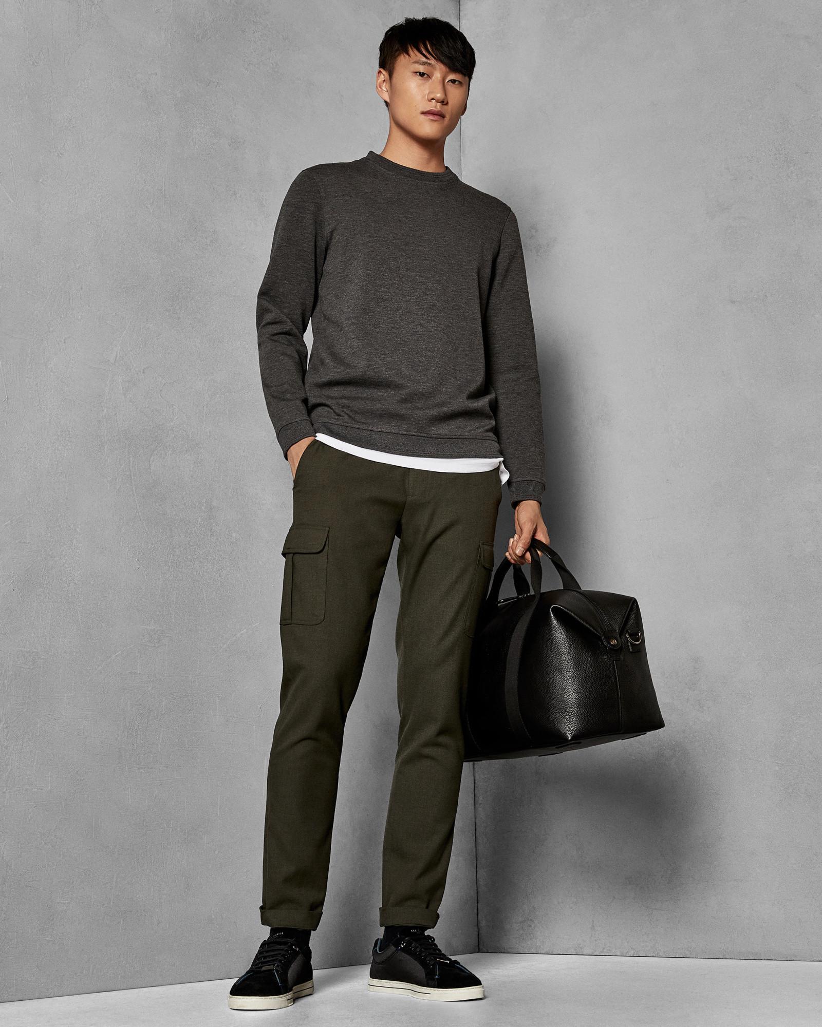 20935215285b1e Lyst - Ted Baker Long Sleeved Sweatshirt in Gray for Men