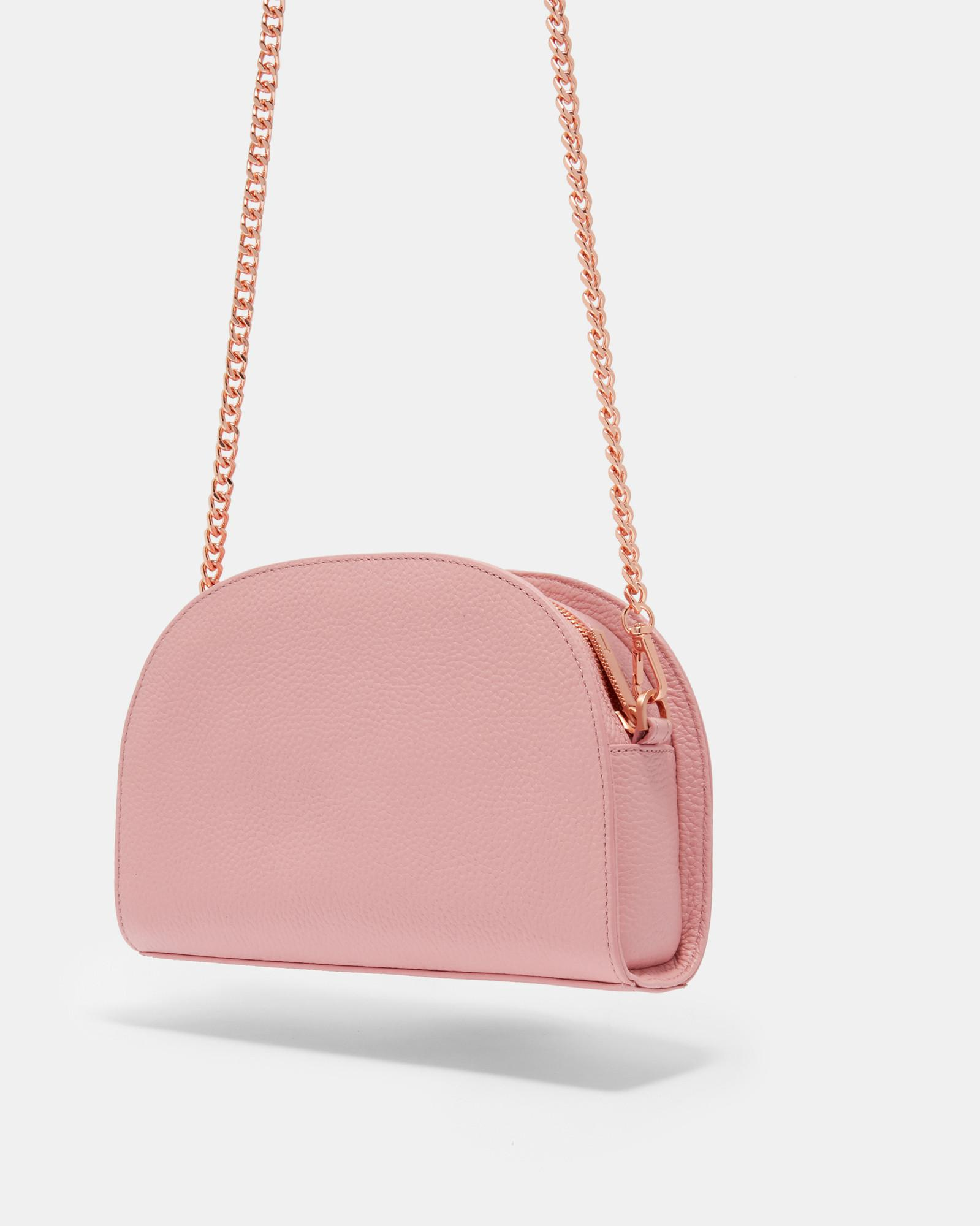 24c0f2c297 Lyst - Ted Baker Leather Pom-pom Cross Body Bag in Pink