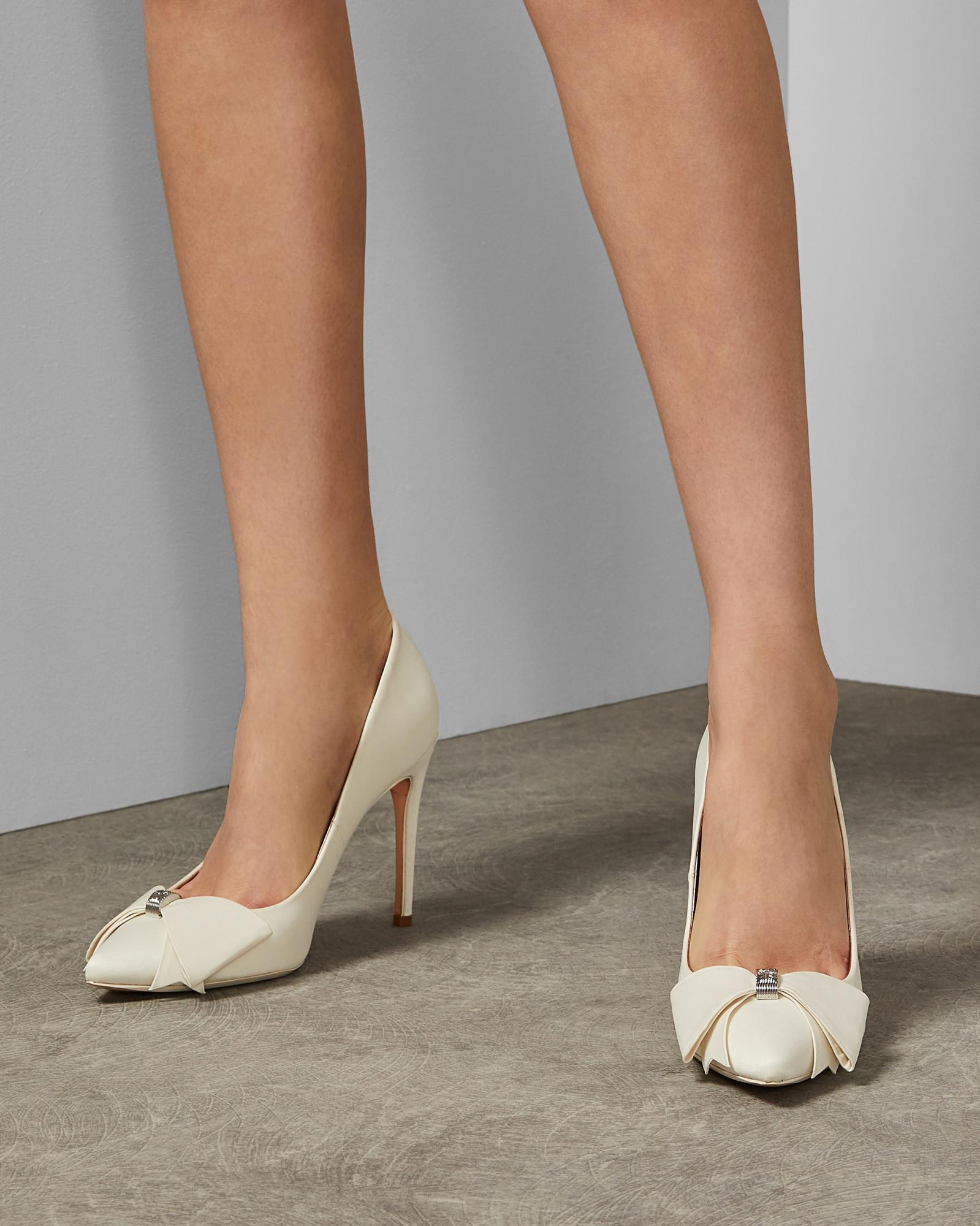 0c22bb6ed Ted Baker Bow Detail Courts in White - Lyst