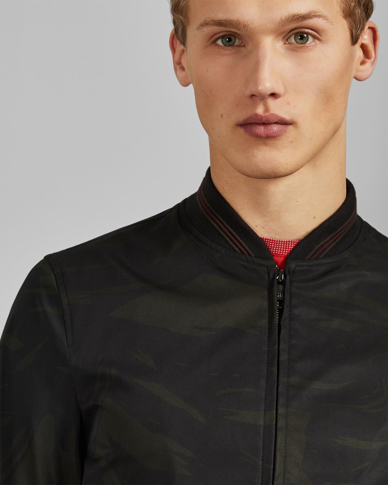 aa241802728861 Ted Baker Printed Bomber Jacket in Black for Men - Lyst