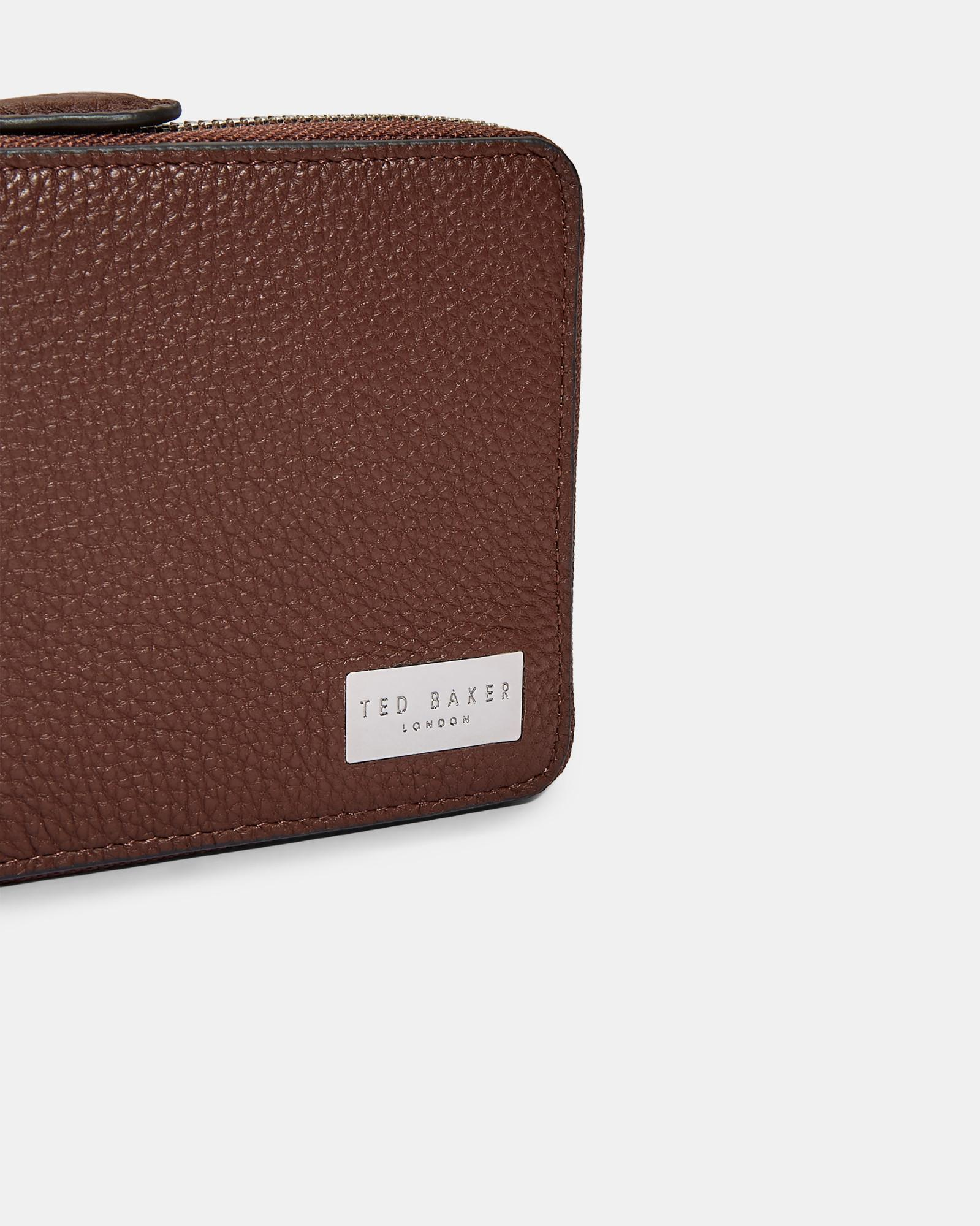 d1a196fdde03 Ted Baker Core Leather Coin Wallet in Brown for Men - Lyst