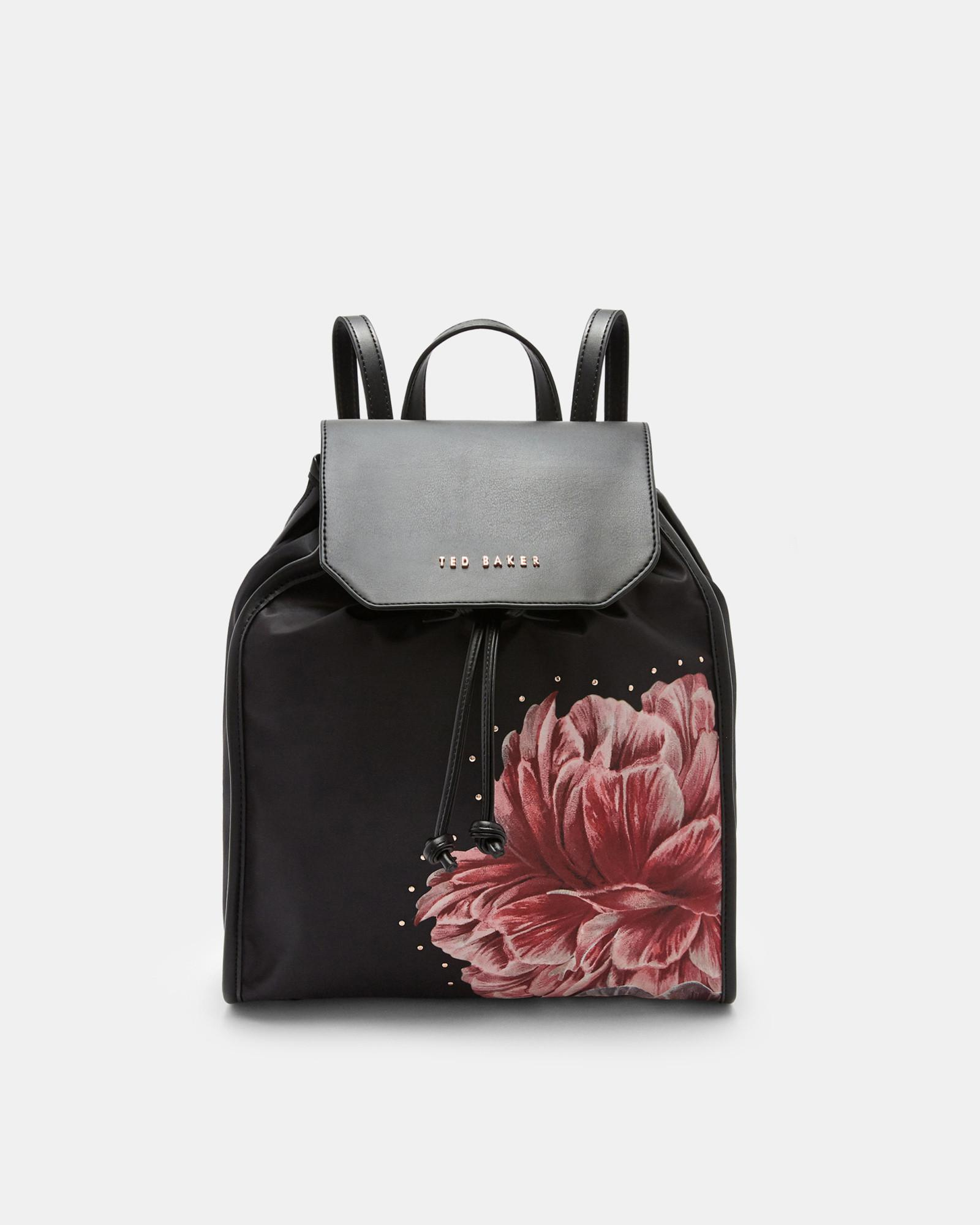3d7dca8a0 Ted Baker Tranquility Drawstring Backpack in Black - Lyst