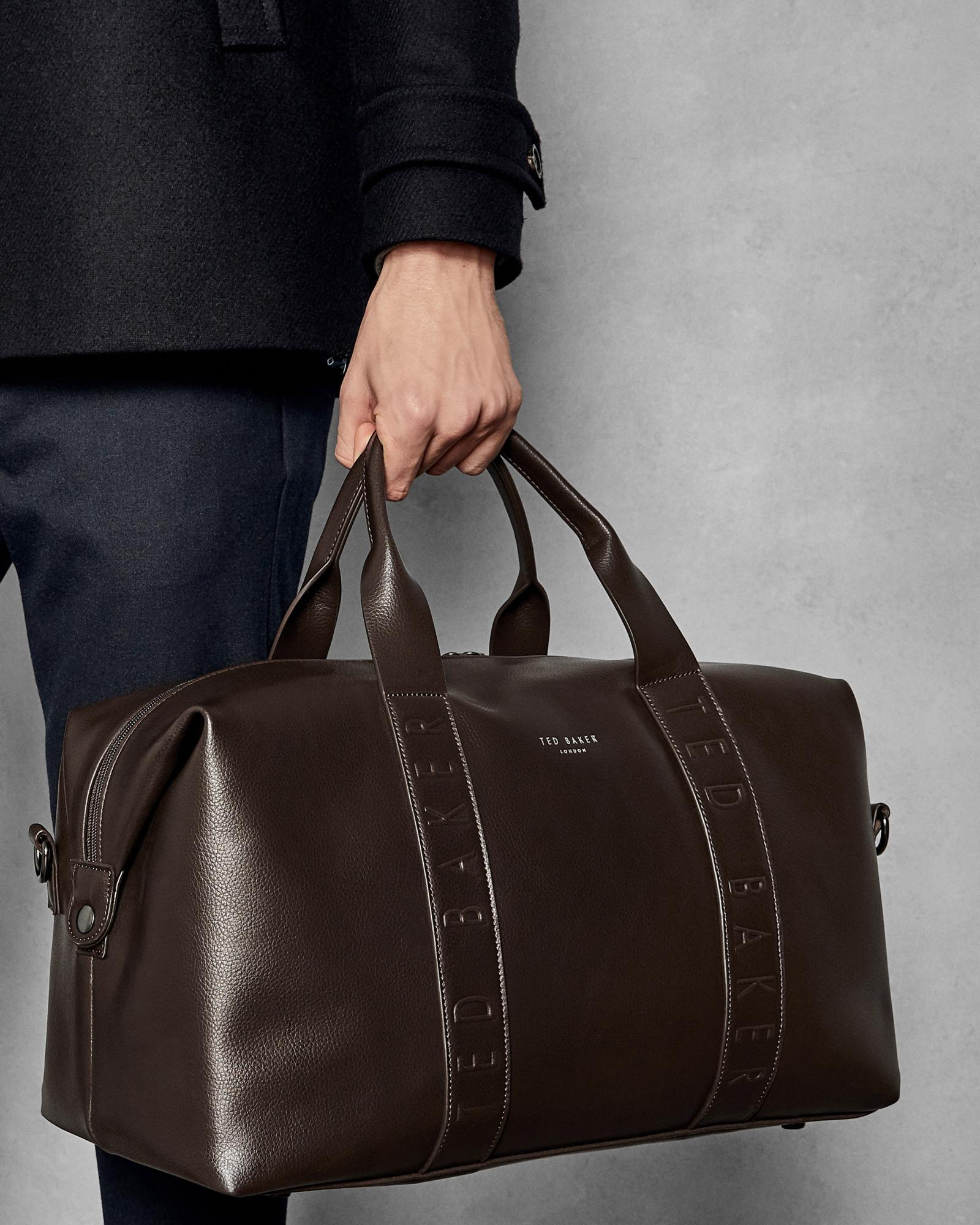 724f30a4b Ted Baker Debossed Holdall in Brown for Men - Lyst