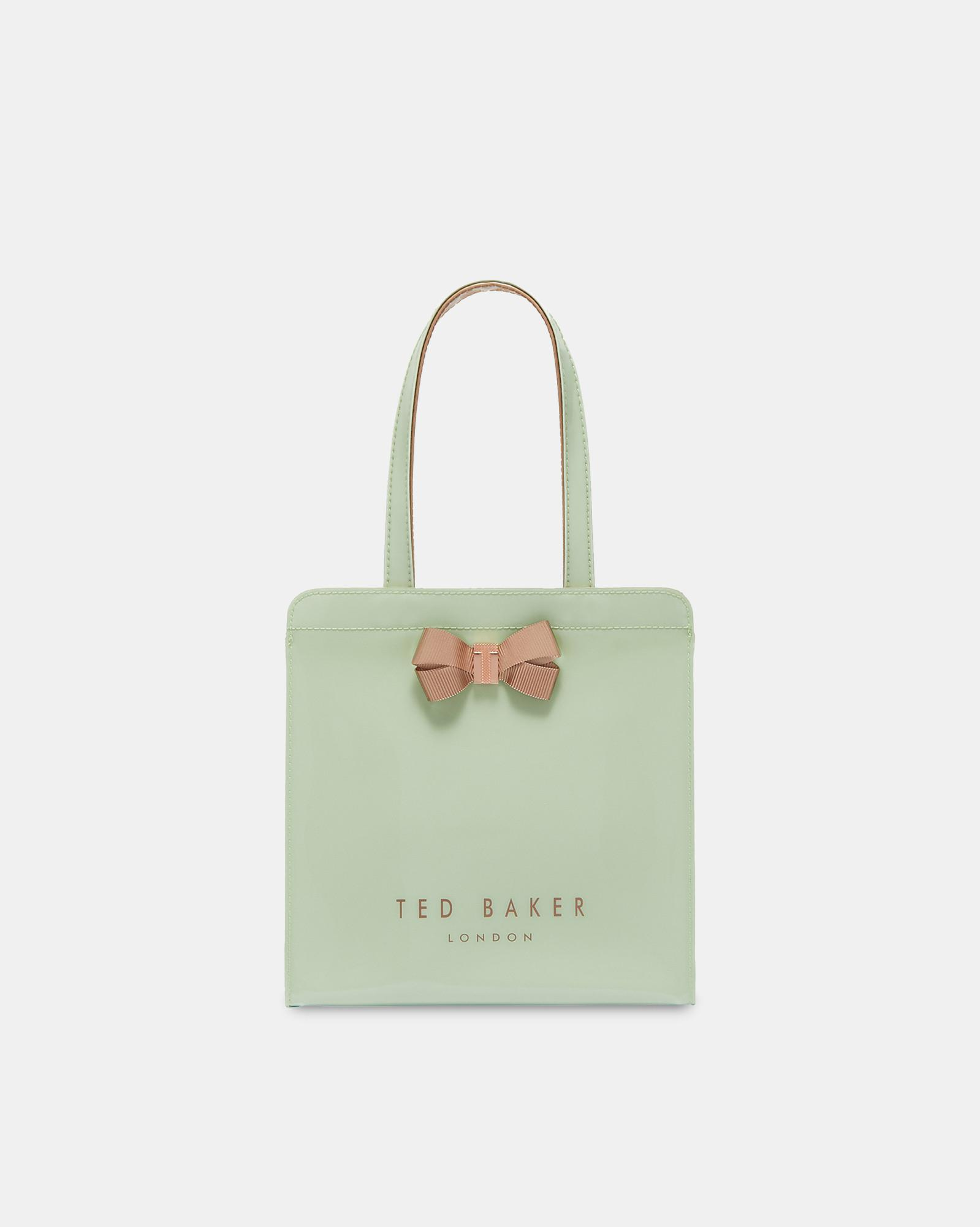 b9cff0ba78bf Ted Baker Bow Detail Small Icon Bag in Green - Lyst
