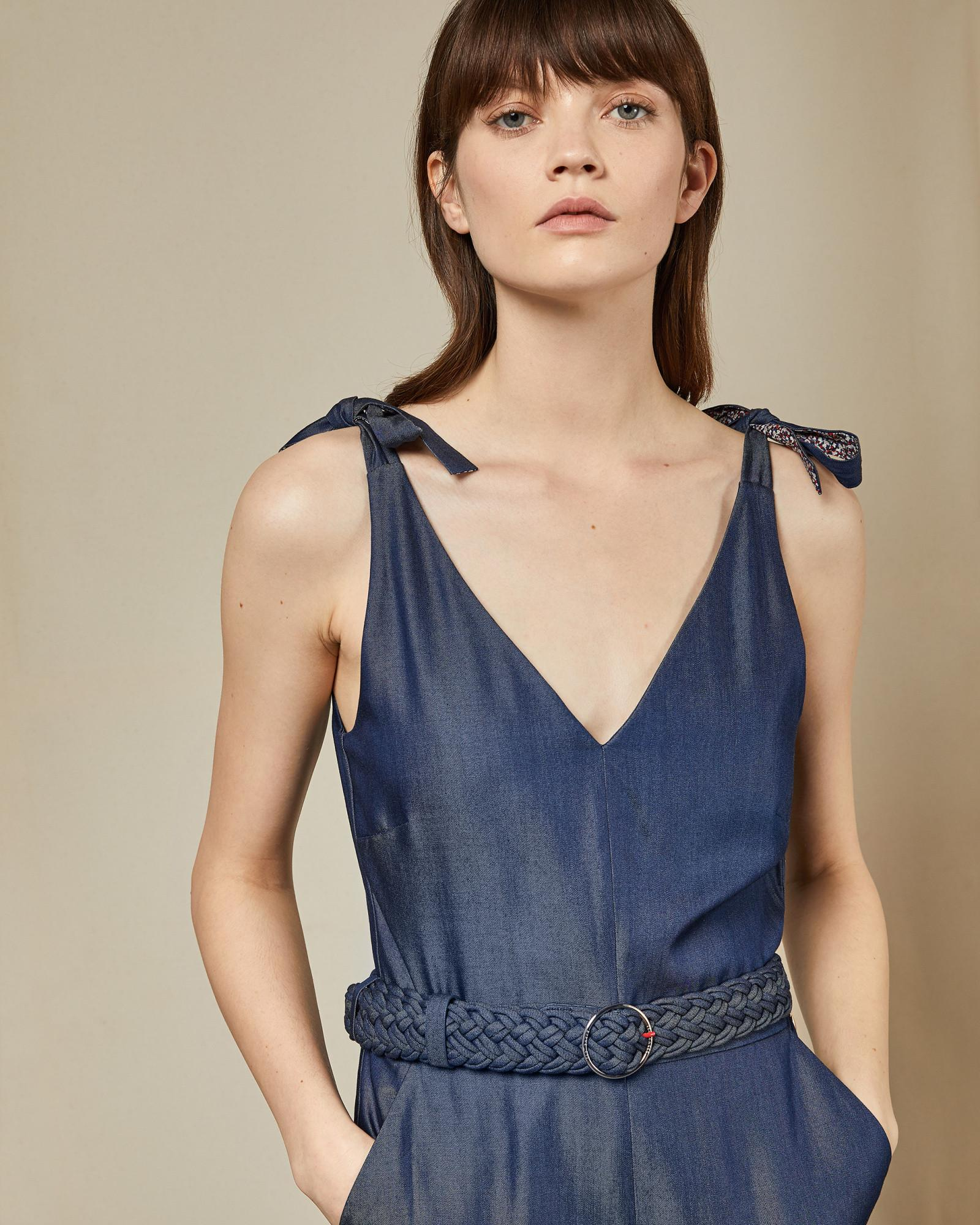 00933c89f63 Lyst - Ted Baker Tm Lyocell Jumpsuit in Blue