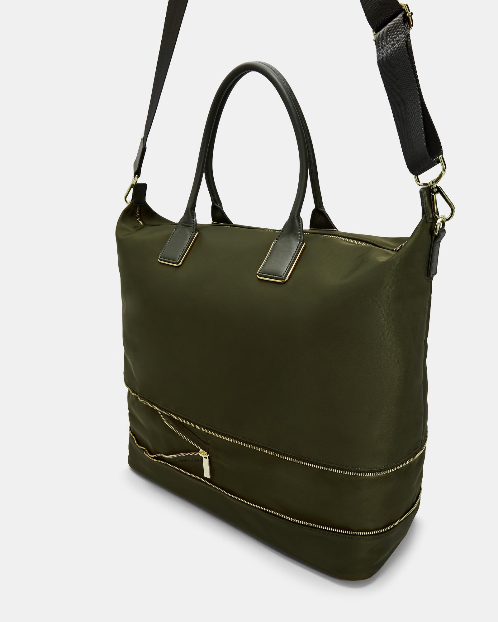 9d5736b0a9606 Lyst - Ted Baker Extendable Nylon Tote Bag in Green