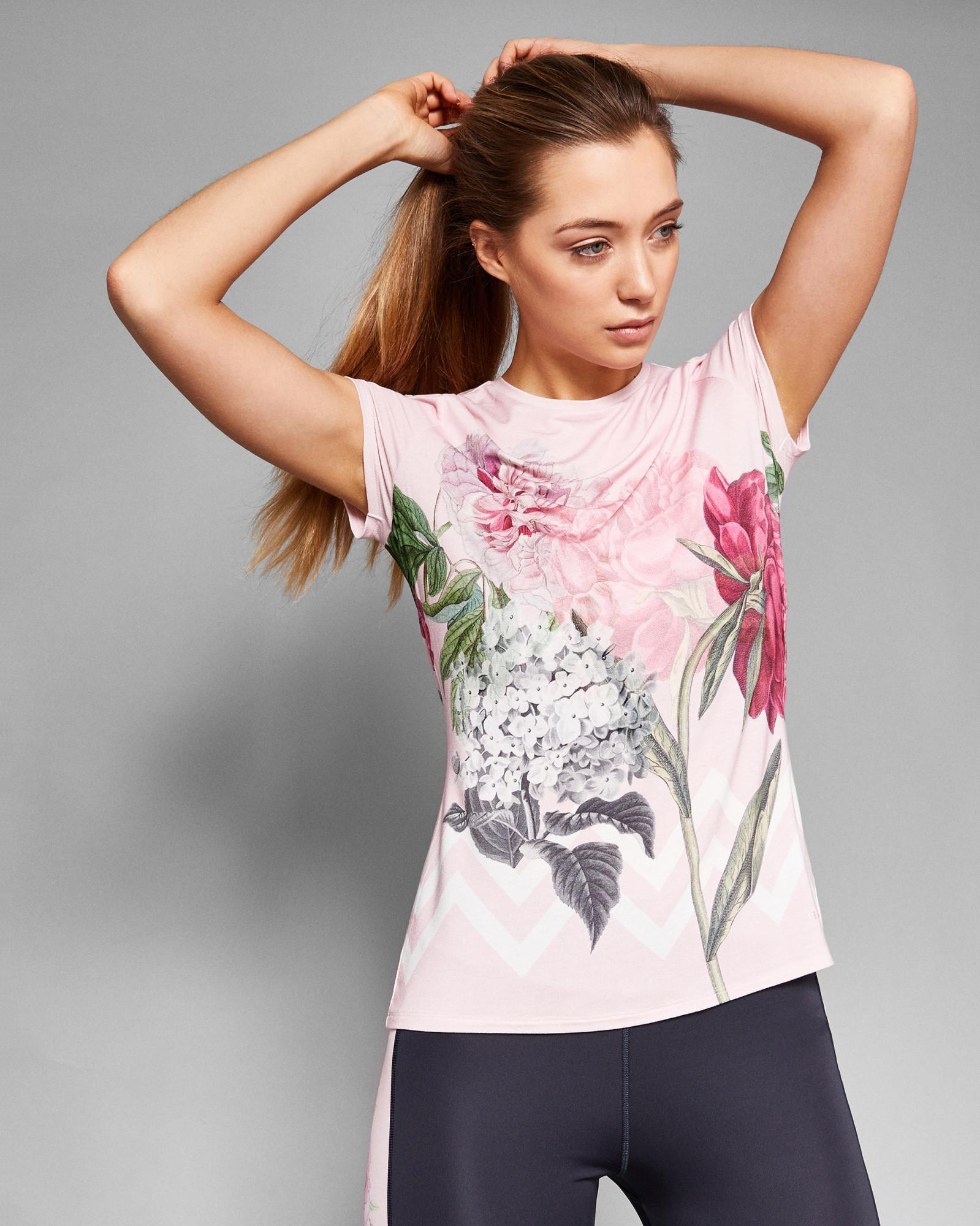 40167fb73948 Lyst - Ted Baker Palace Gardens Fitted T-shirt in Gray