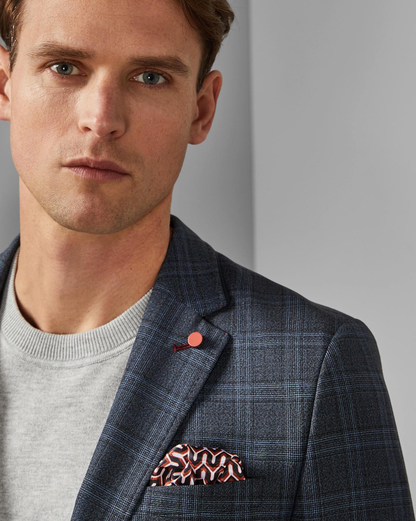 c004dbda3 Ted Baker Check Jacket in Blue for Men - Lyst