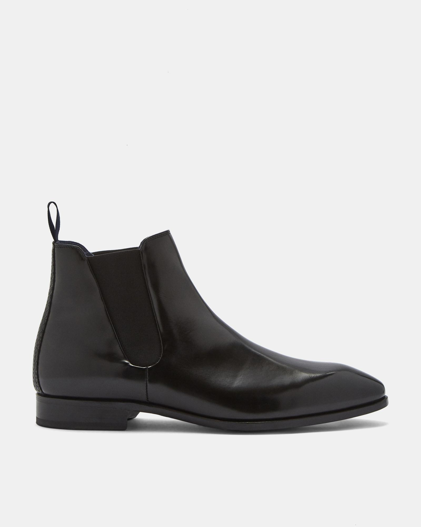 e96b64892f3 Ted Baker Leather Chelsea Boots in Black for Men - Lyst
