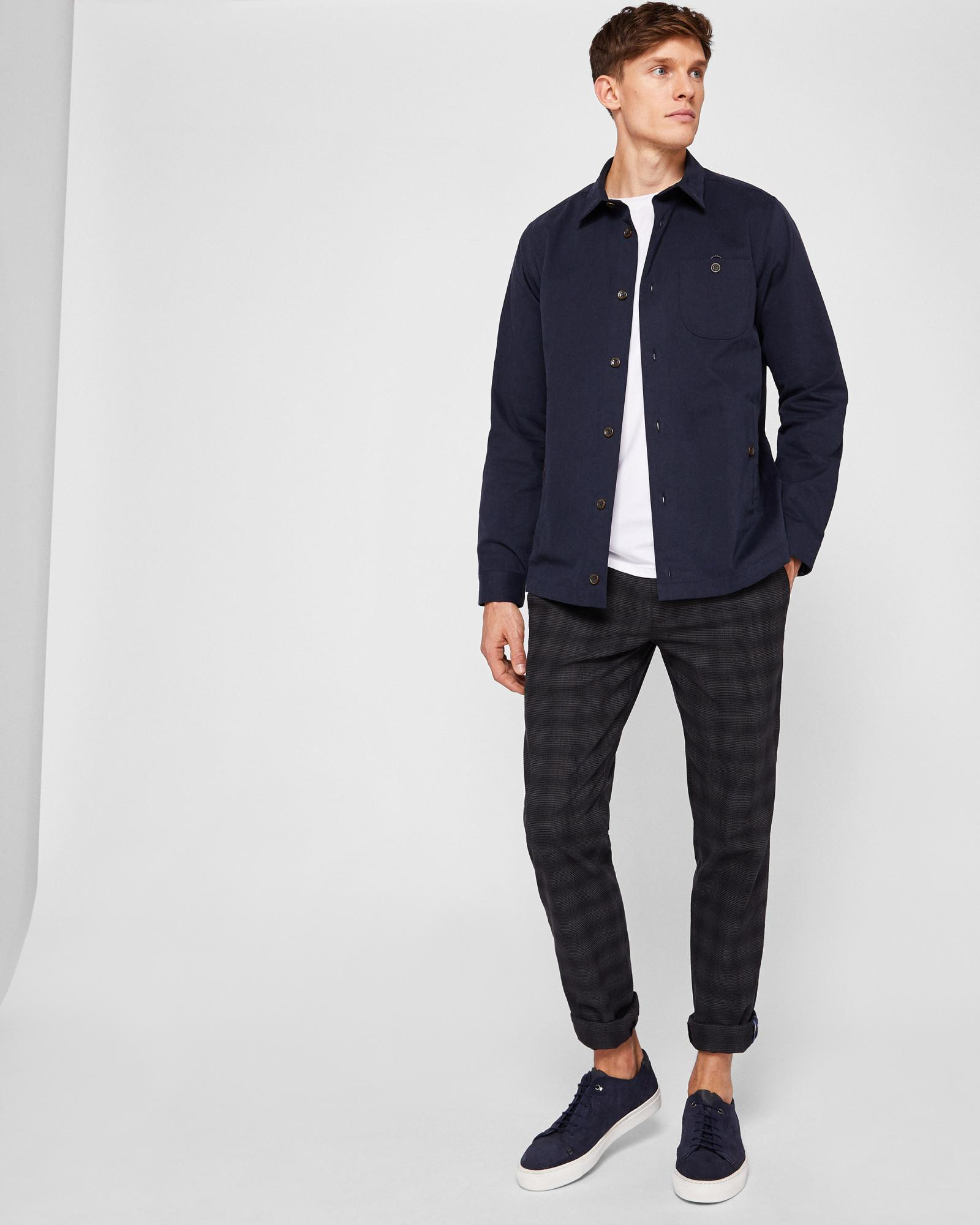 69a77e73a Ted Baker Cotton Shacket in Blue for Men - Lyst
