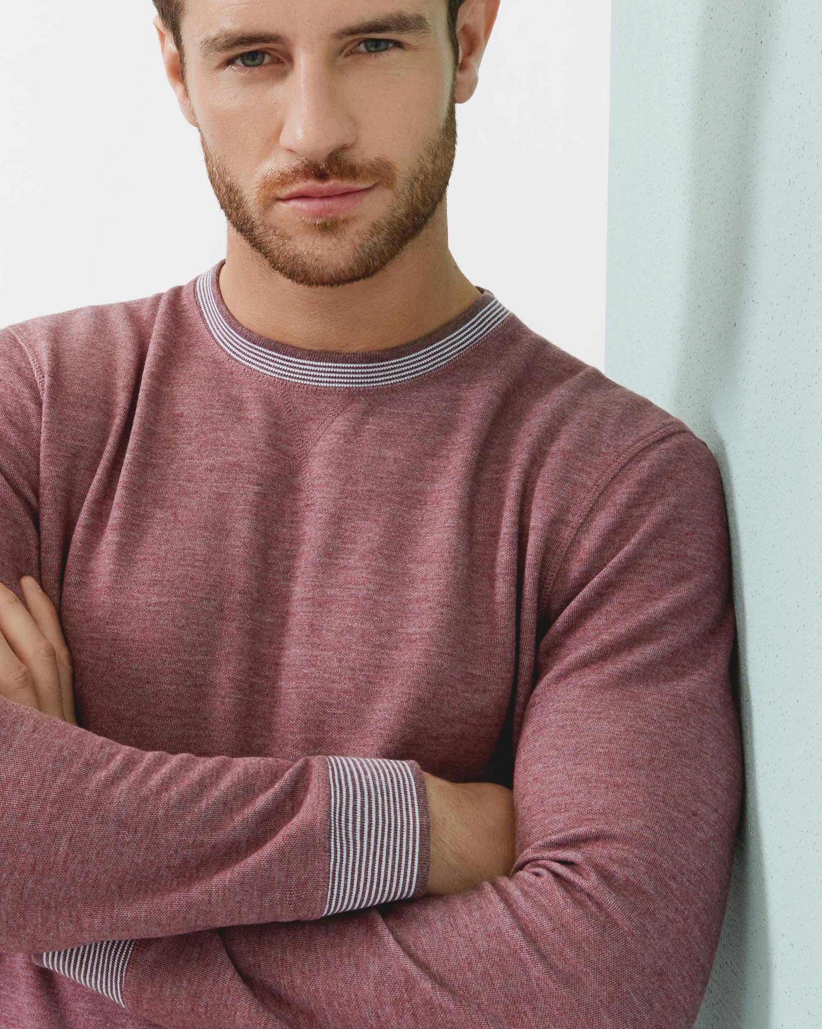 b6f6e3226 Ted Baker Kaspa Crew Neck Sweatshirt in Purple for Men - Lyst