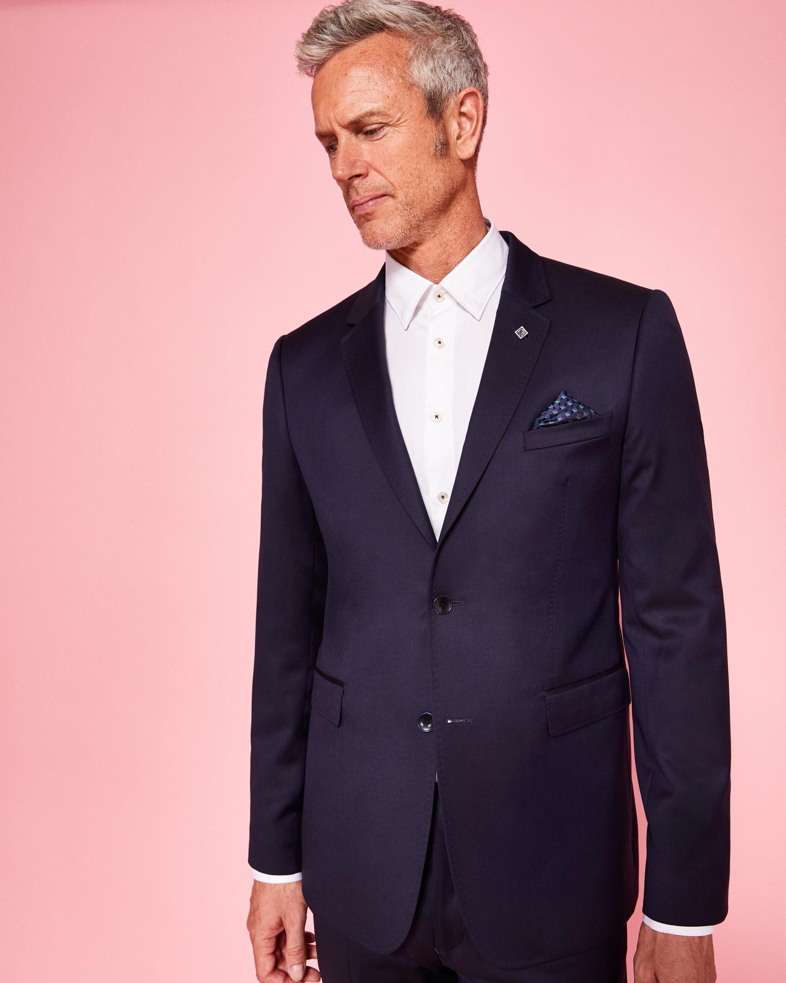 44e9348793e3cf Lyst - Ted Baker Debonair Wool Jacket in Blue for Men